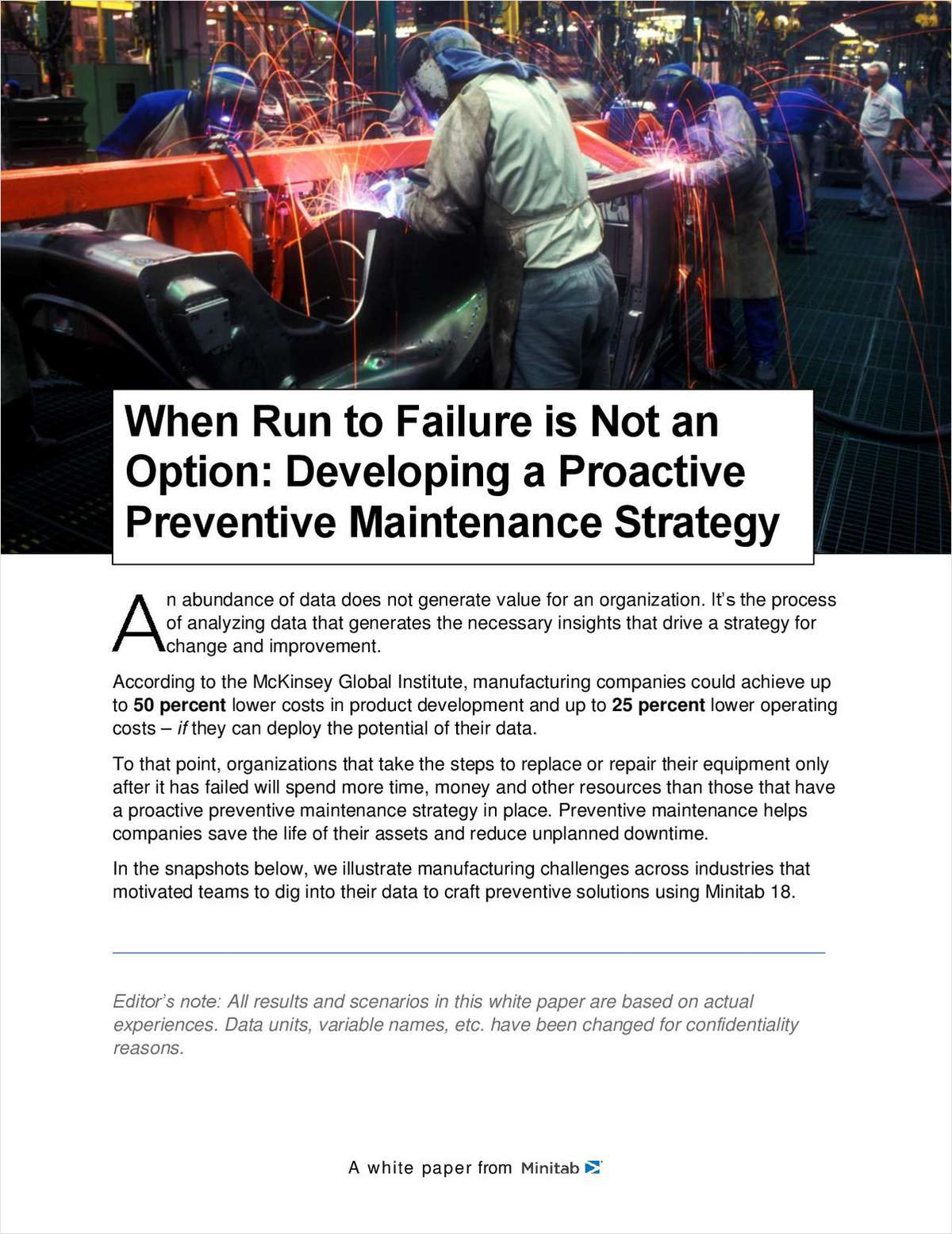 When Run to Failure is Not an Option: Developing a Proactive Preventive Maintenance Strategy