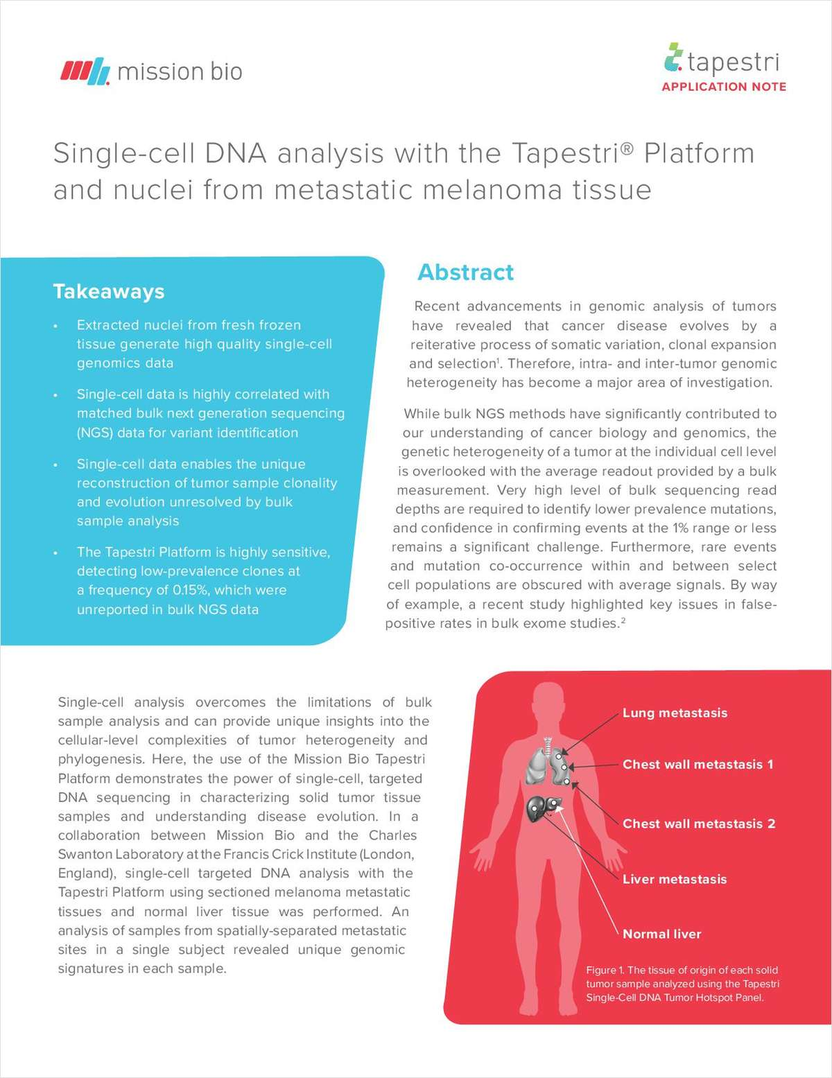 Single-Cell DNA Analysis With the Tapestri Platform and Nuclei From Metastatic Melanoma Tissue