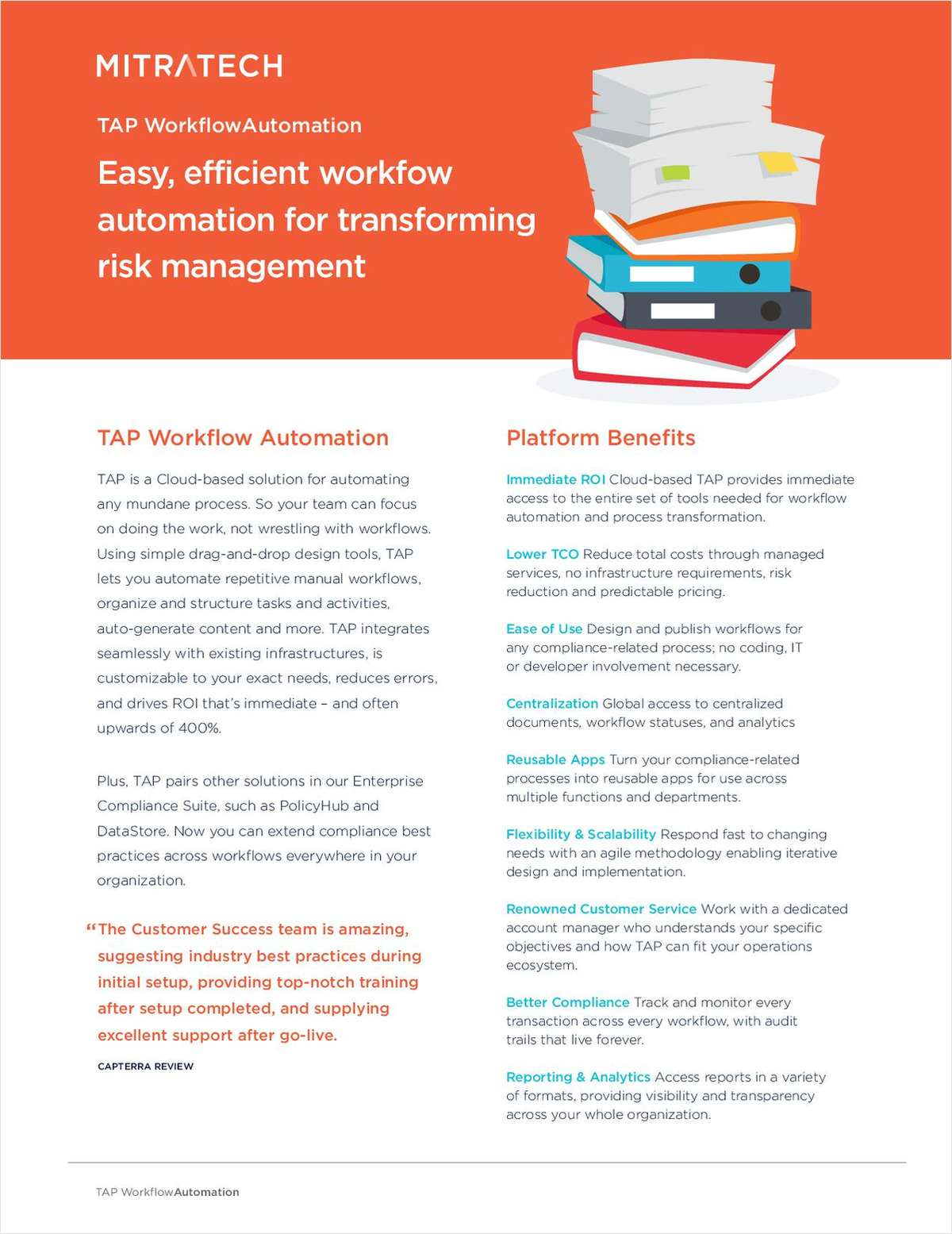 TAP Workflow Automation for Transforming Risk Management