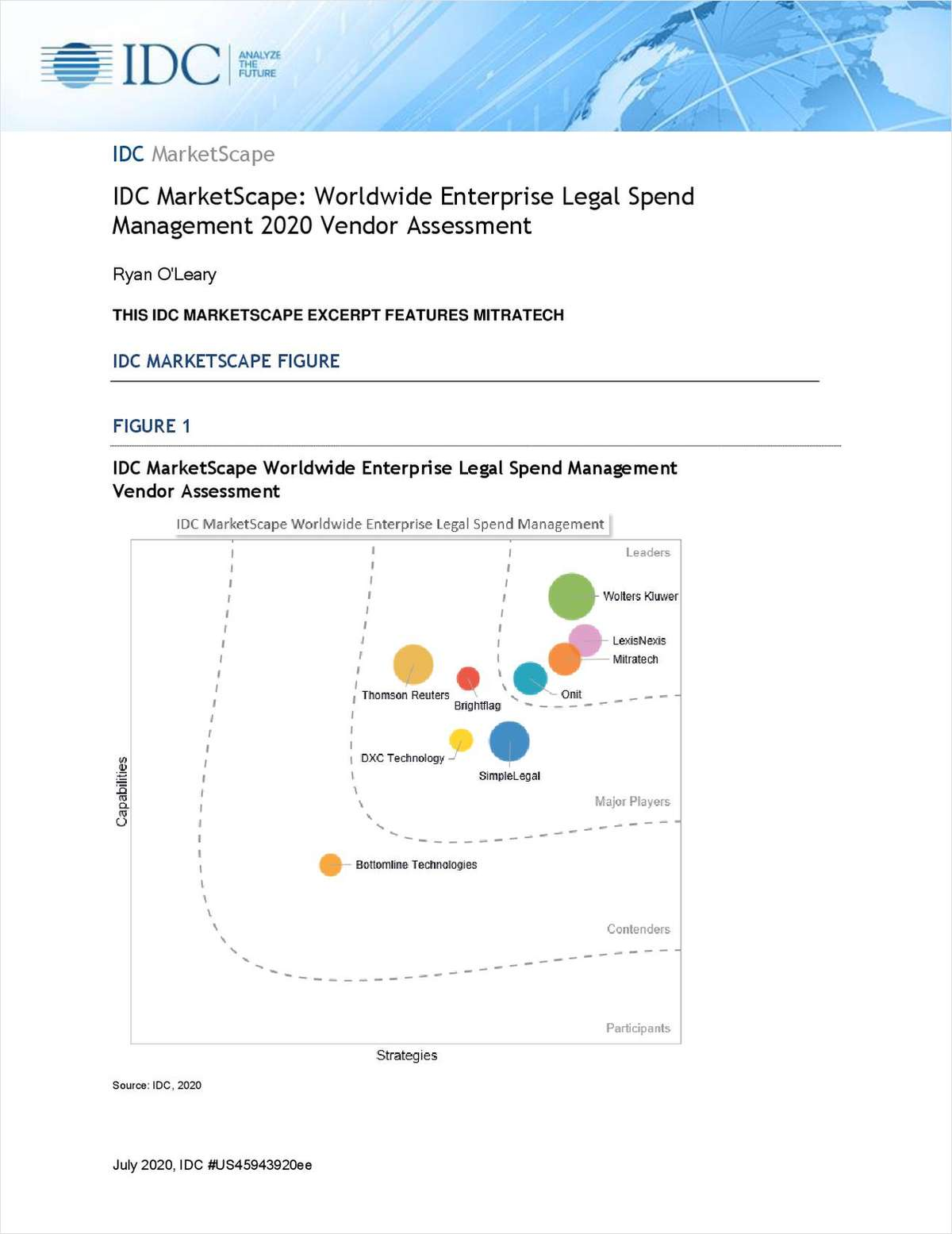 IDC MarketScape: Worldwide Legal Spend Management 2020 Vendor Assessment
