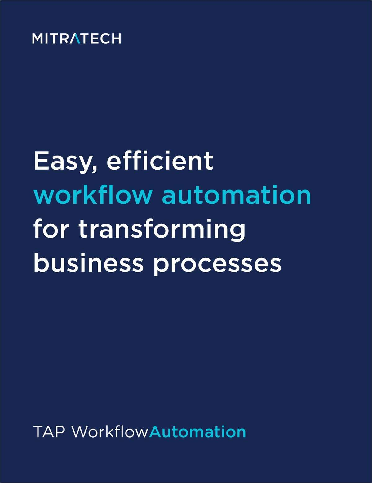 Brochure: TAP Workflow Automation