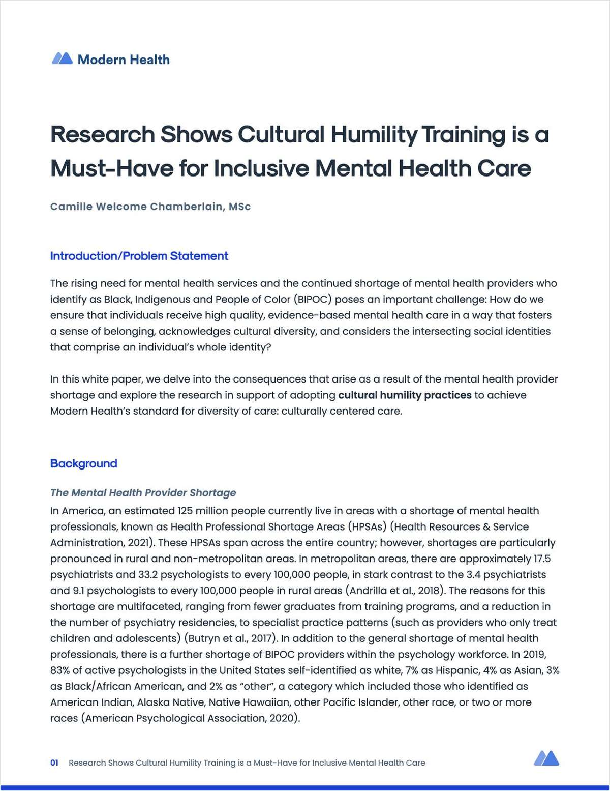 How Cultural Humility Training Bolsters Your Company's Quality Mental Health Care