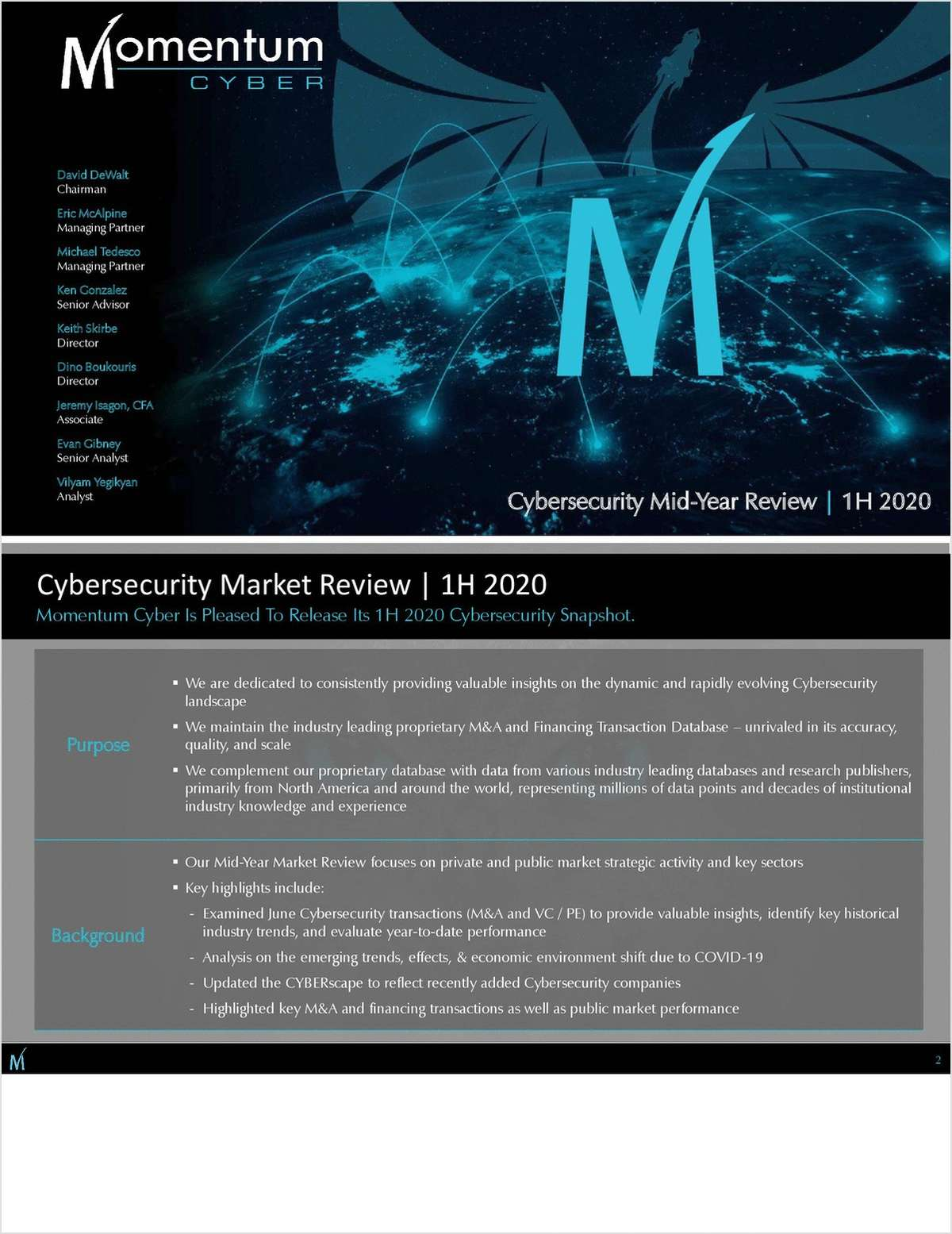 Cybersecurity Market Review - 1H 2020