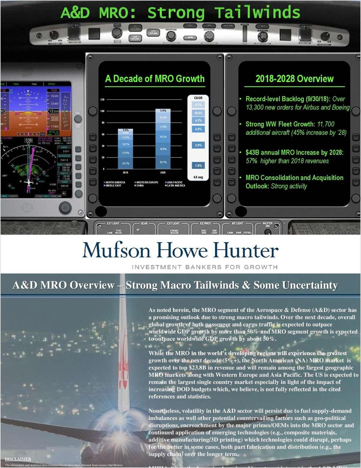 A&D MRO: Strong Tailwinds