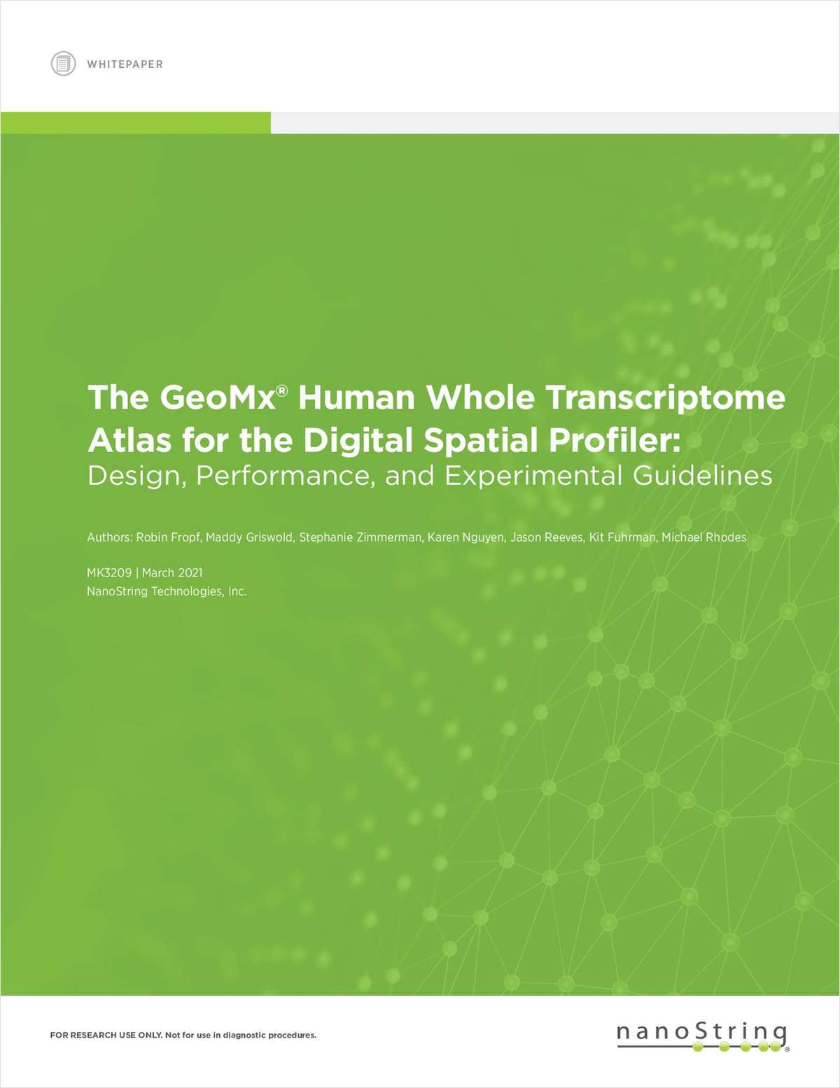 The GeoMx Human Whole Transcriptome Atlas for the Digital Spatial Profiler: Design, Performance, and Experimental Guidelines