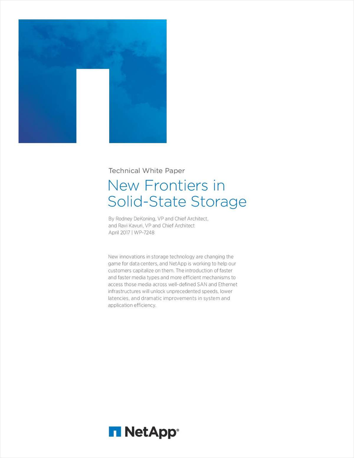New Frontiers in Solid-State Storage