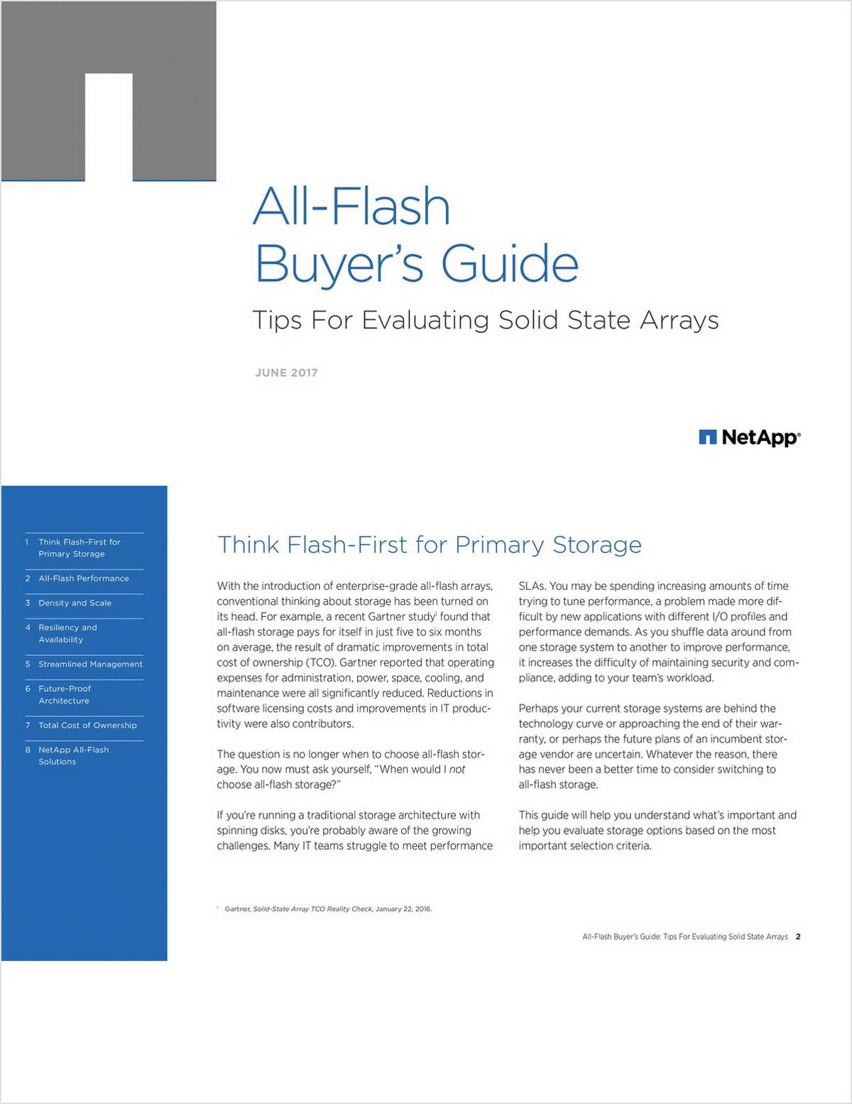 All-Flash Buyer's Guide: Tips For Evaluating Solid State Arrays