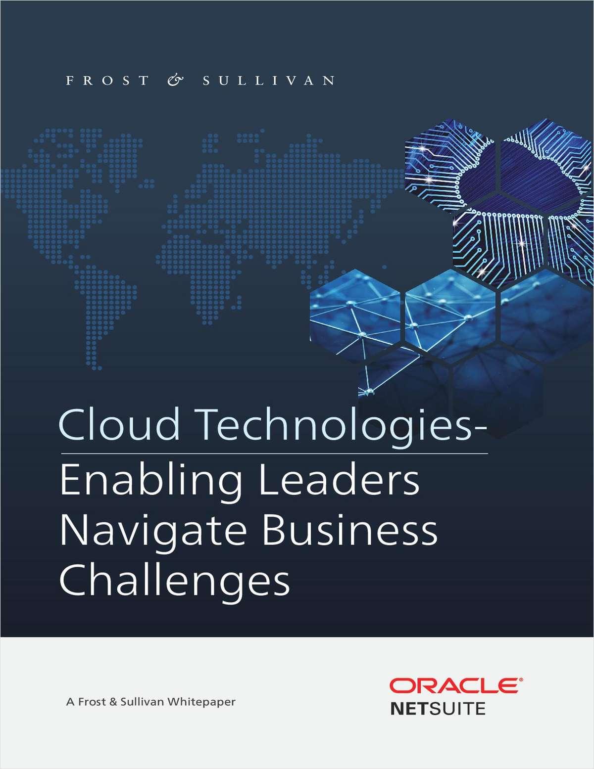 Cloud Technologies - Enabling Leaders Navigate Business Challenges