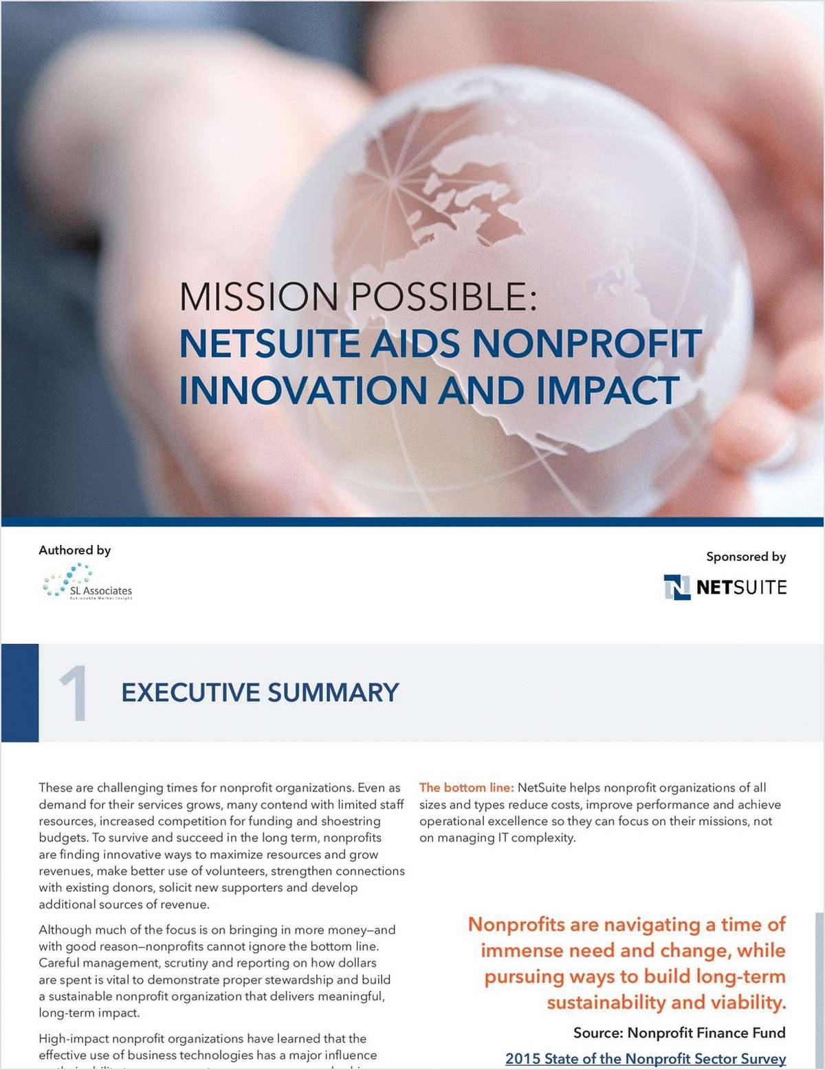 Mission Possible:  NetSuite Aids Nonprofit Innovation and Impact