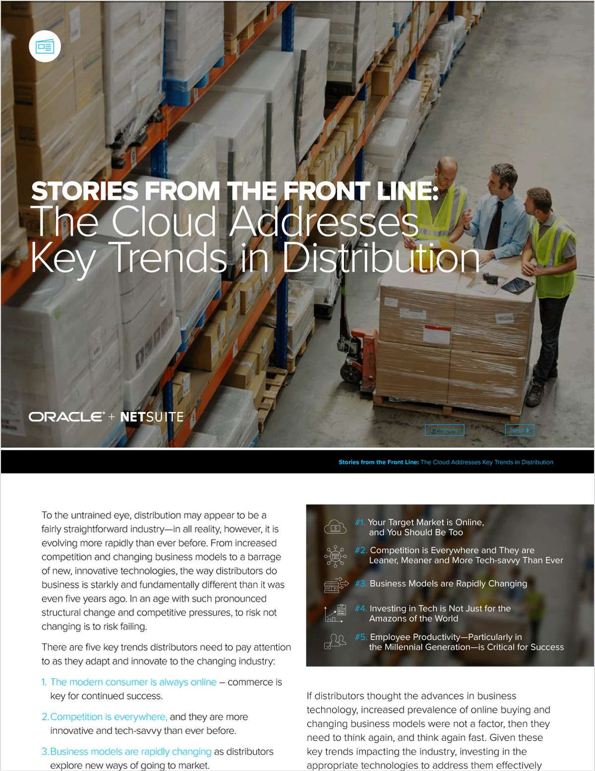 Stories from the Front Line: The Cloud Addresses Key Trends in Distribution
