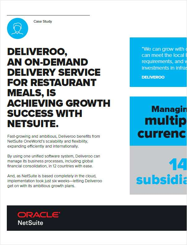 Deliveroo is Achieving Growth Success with NetSuite
