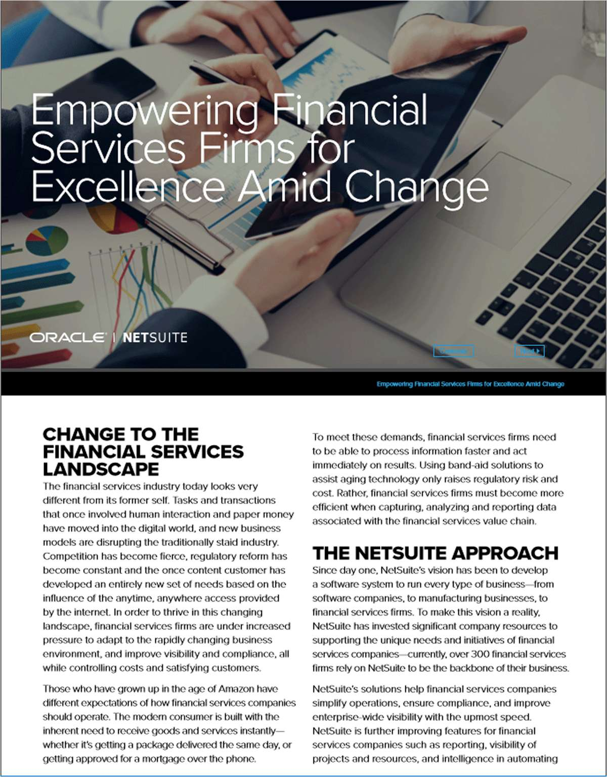 Empowering Financial Services Firms for Excellence Amid Change