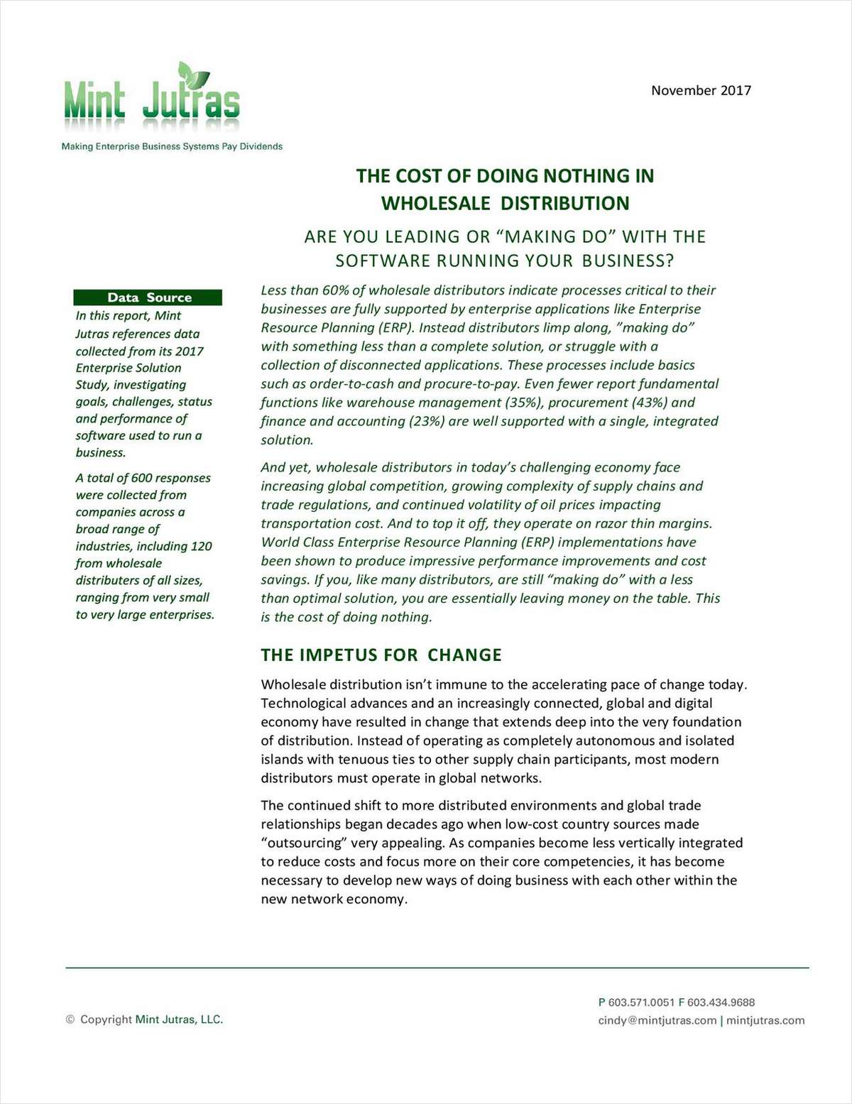The Cost of Doing Nothing in Wholesale Distribution
