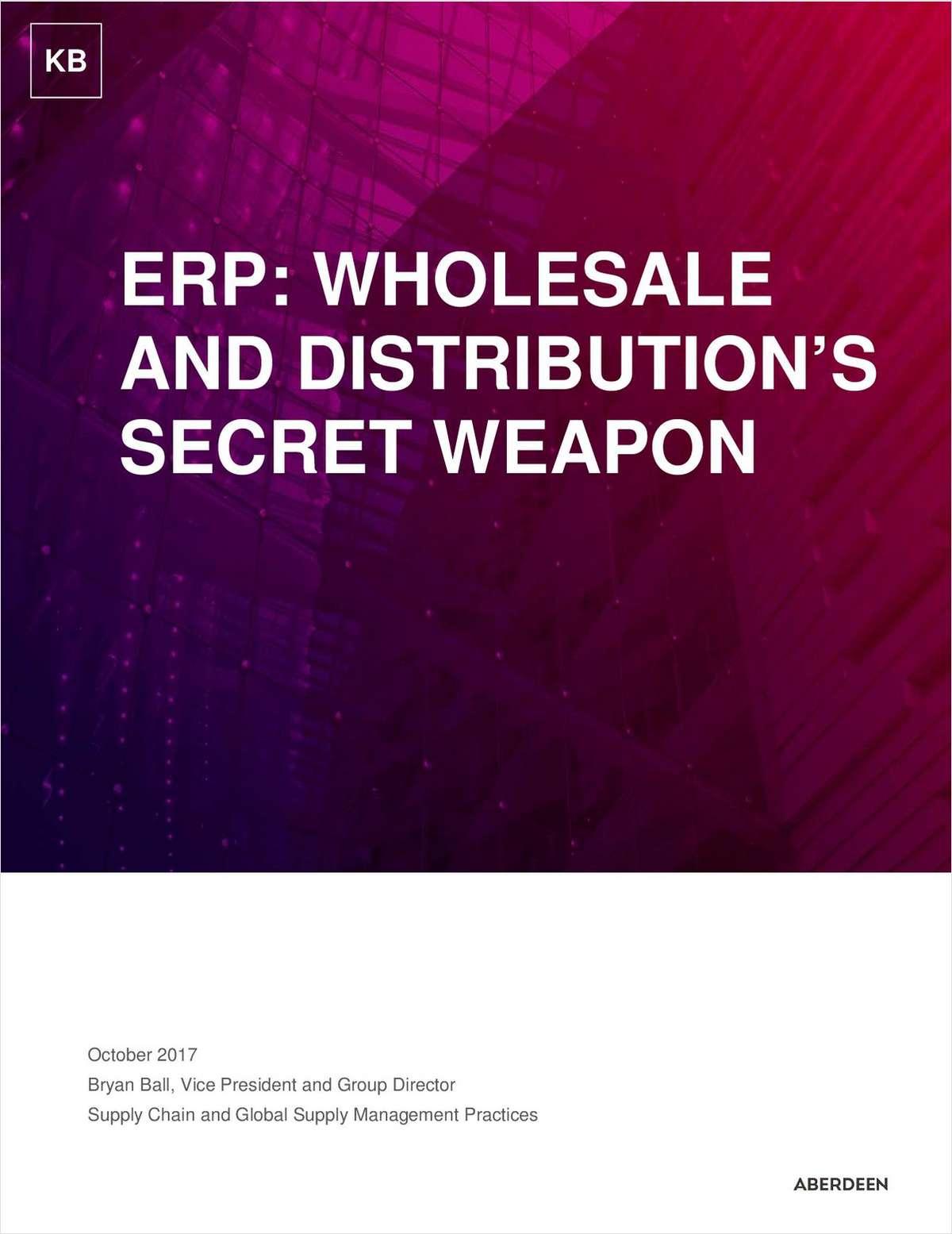 ERP: Wholesale Distribution's Secret Weapon