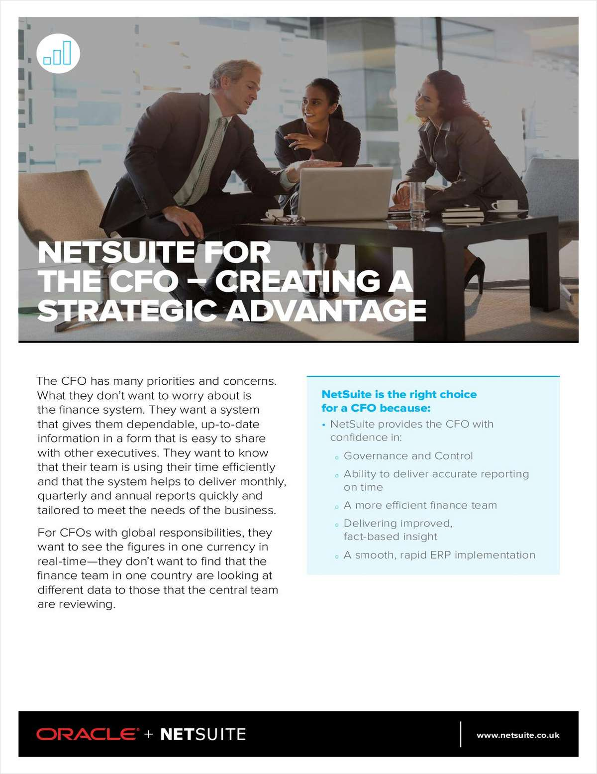 NetSuite Gives the CFO a Strategic Advantage