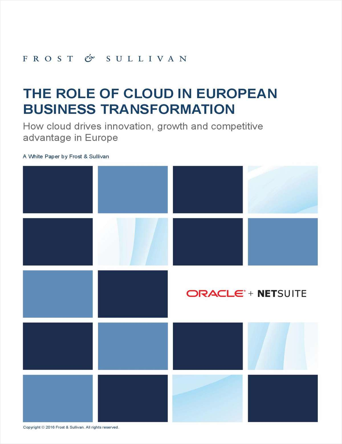 The Role of Cloud in European Business Transformation