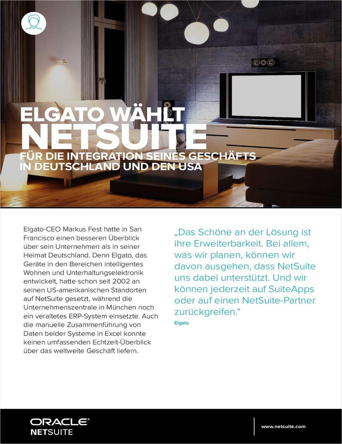 Elgato wahlt NetSuite fur die integration seines geschafts in Deutschland and den USA