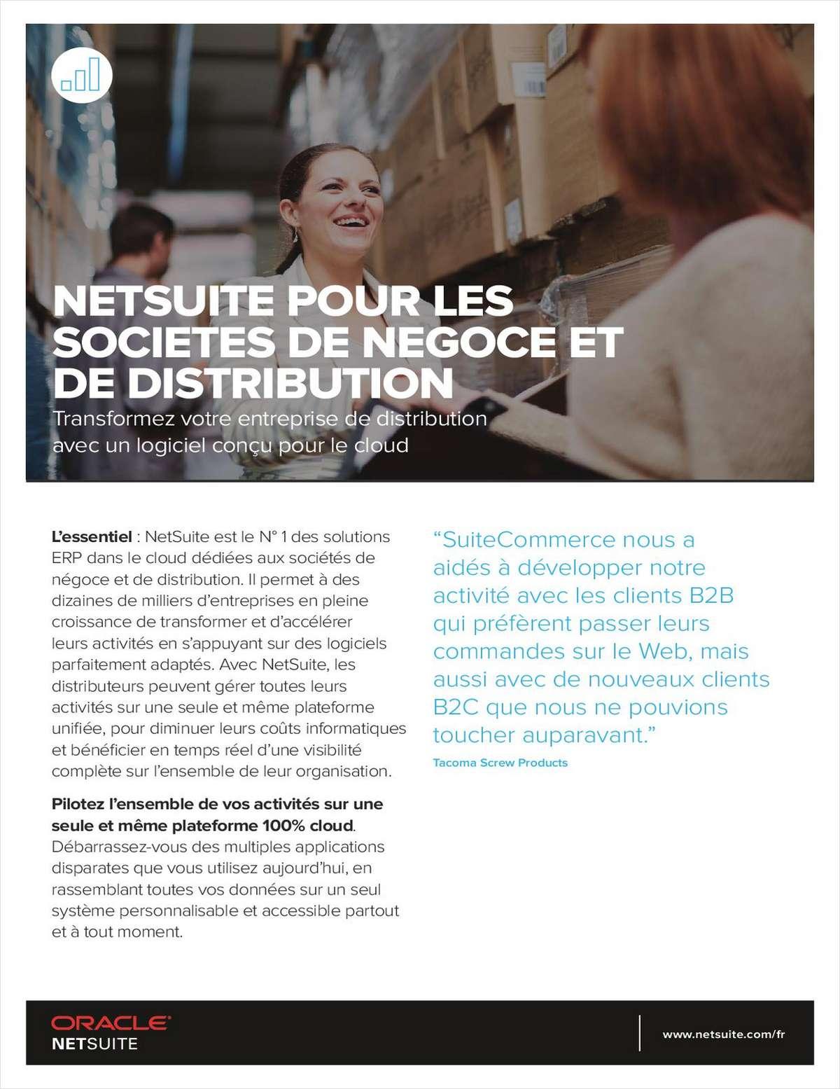 NETSUITE POUR LES SOCIETES DE NEGOCE ET DE DISTRIBUTION
