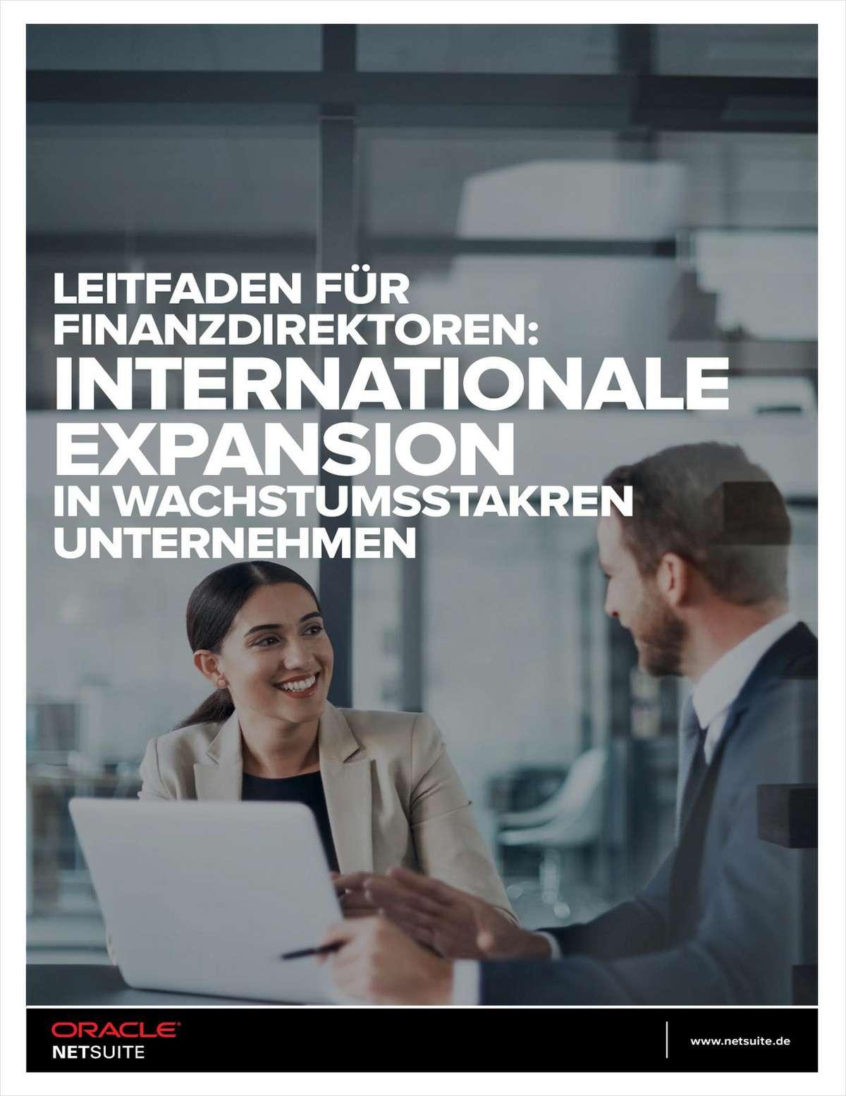 LEITFADEN FÜR FINANZDIREKTOREN: INTERNATIONALE EXPANSION IN WACHSTUMSSTAKREN