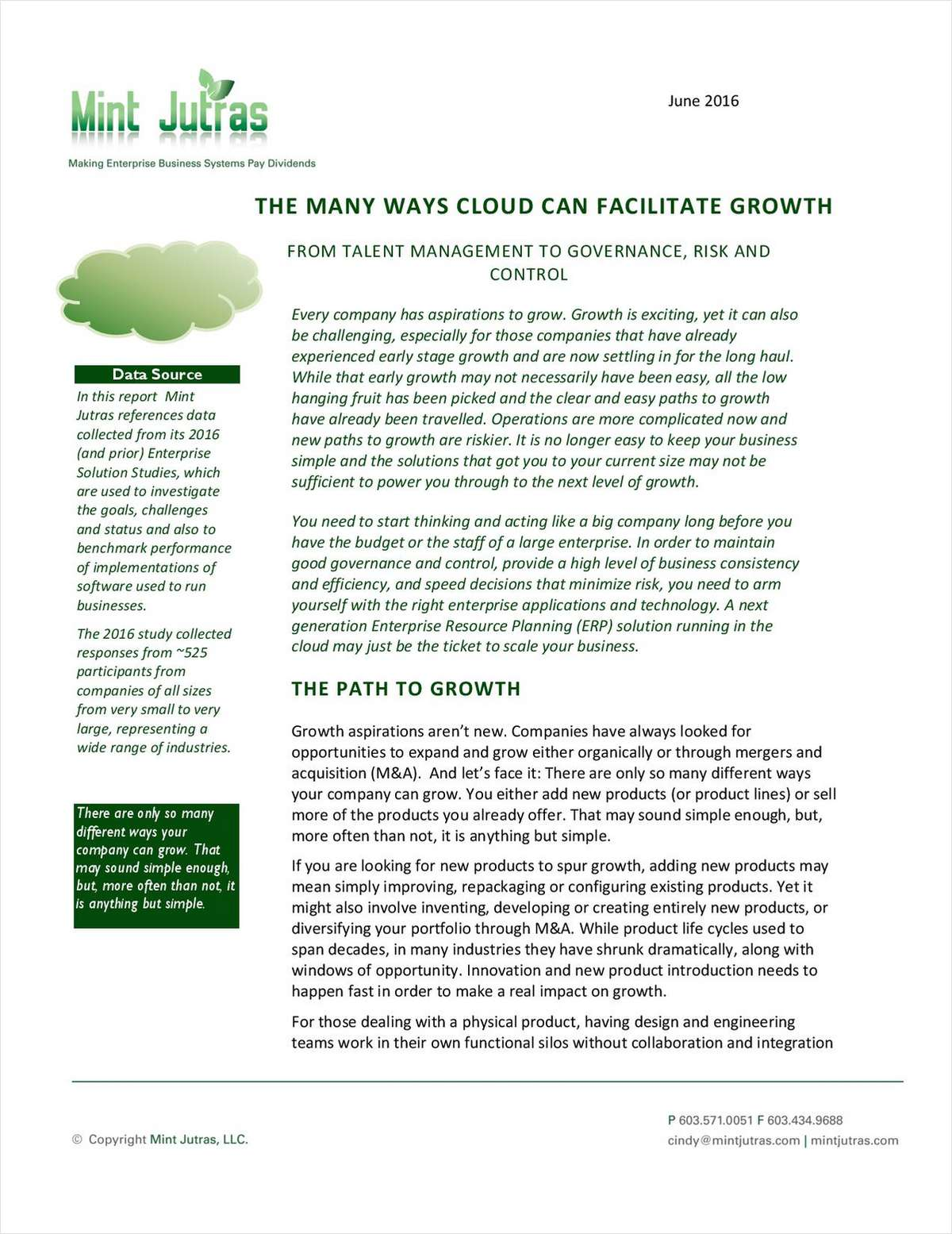 The Many Ways Cloud Can Facilitate Growth