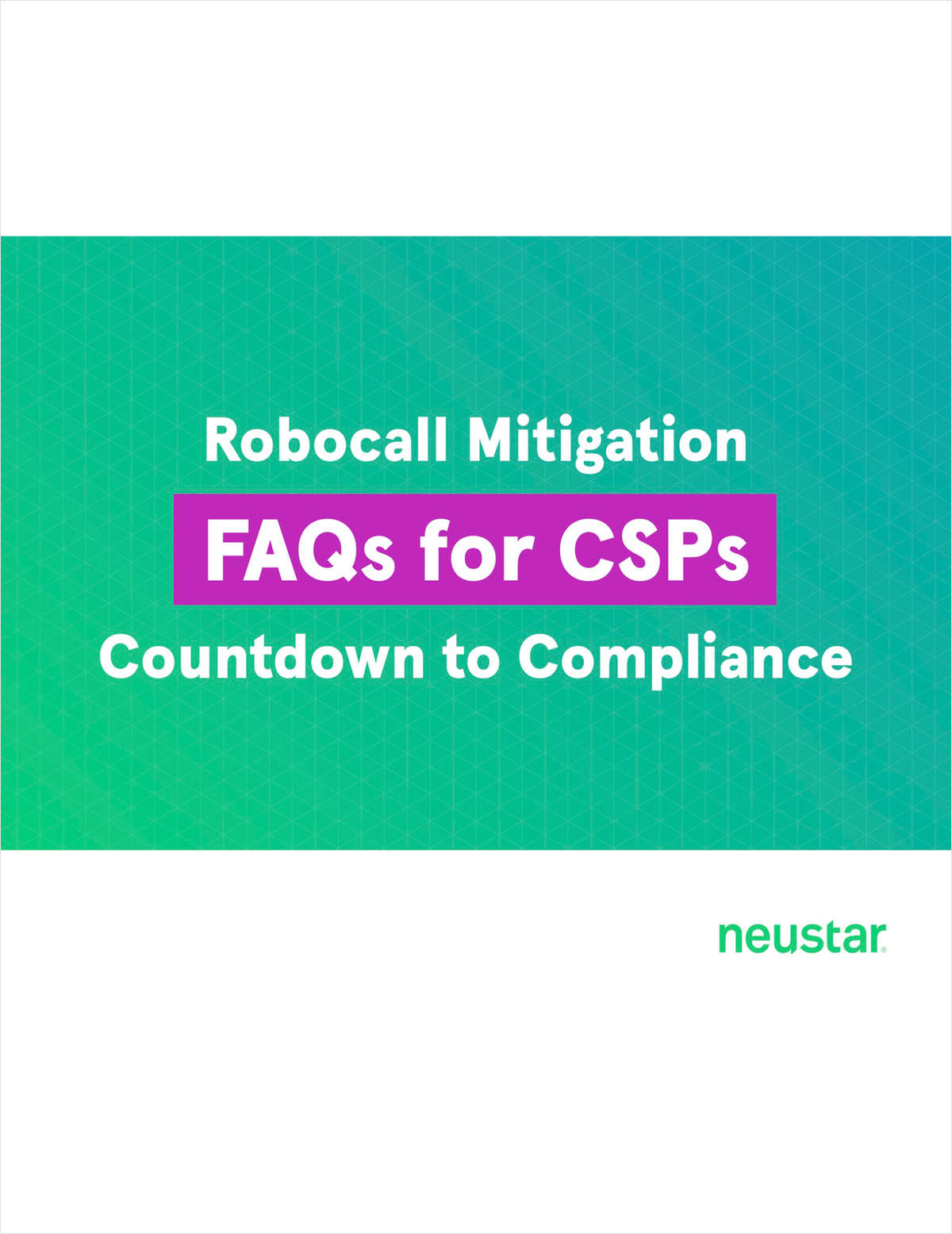 Robocall Mitigation FAQs for CSPs