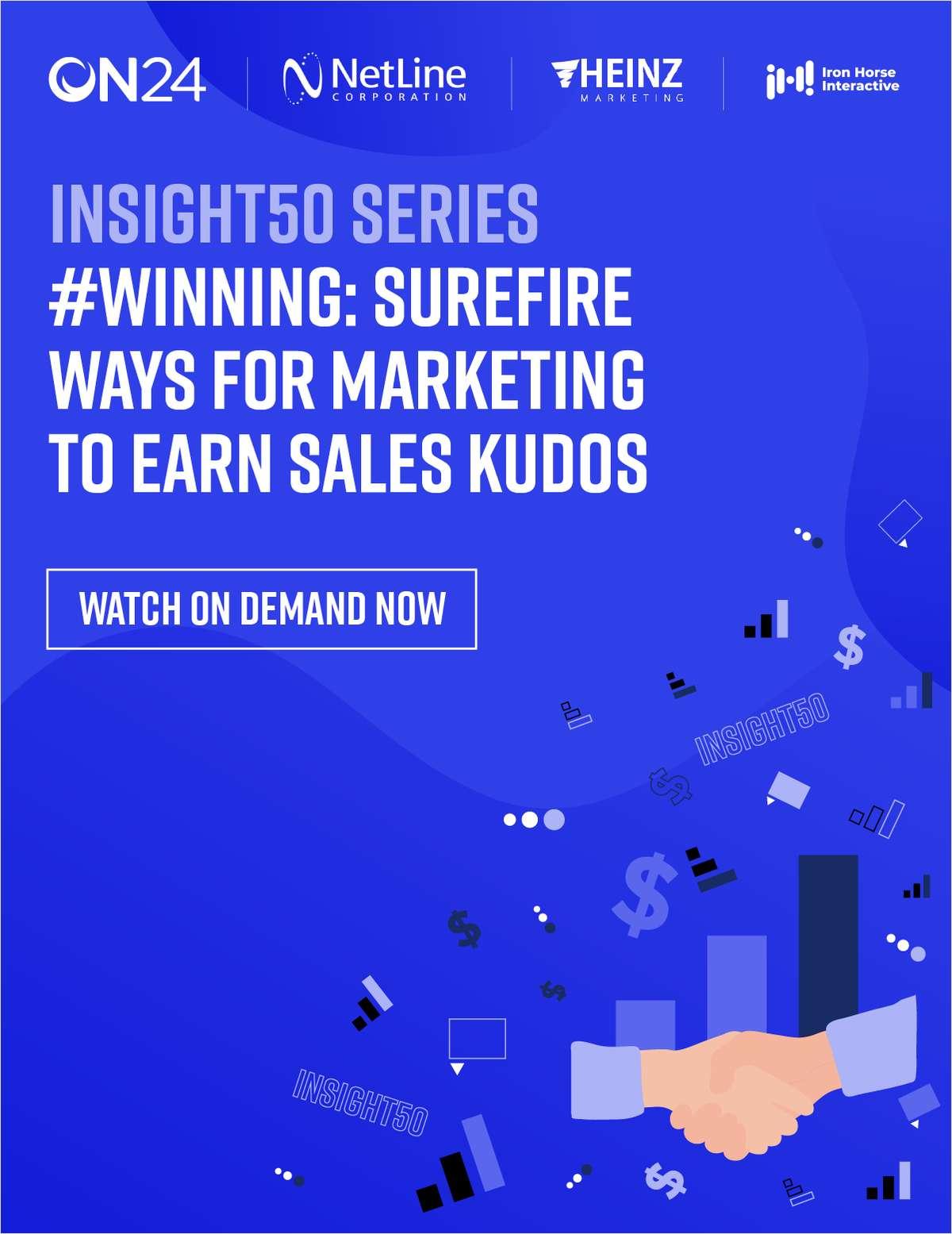 #Winning: Surefire for Marketing to Earn Sales Kudos