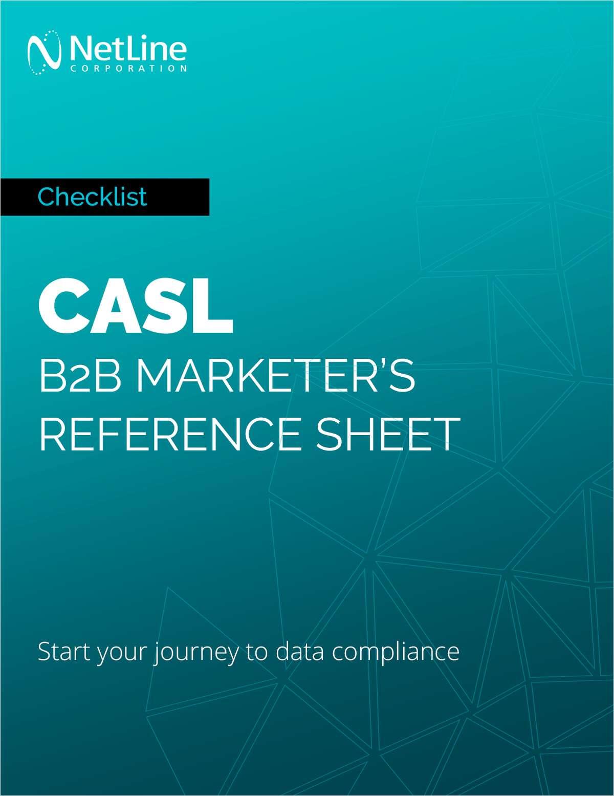 CASL: B2B Marketer's Reference Sheet