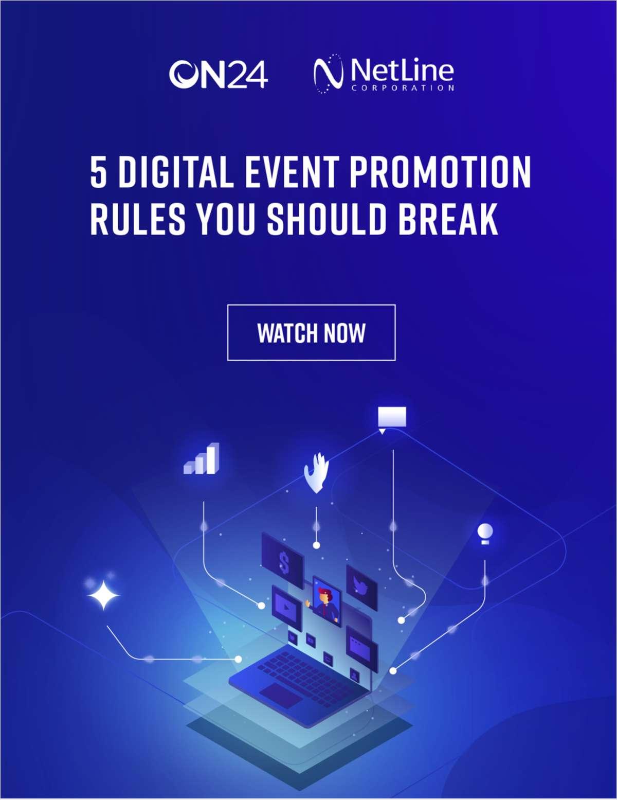 5 Digital Event Promotion Rules You Should Break