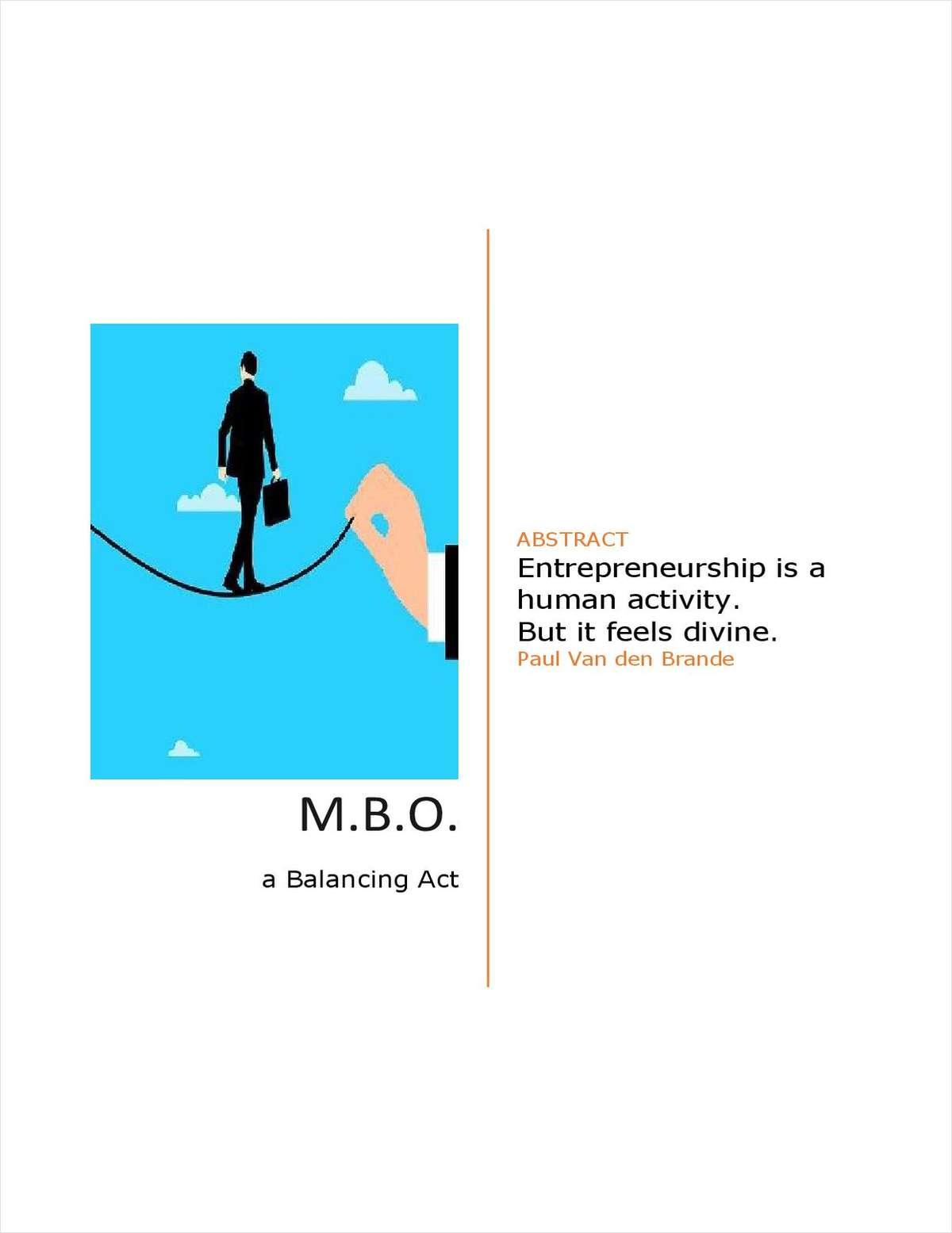 M.B.O. a Balancing Act