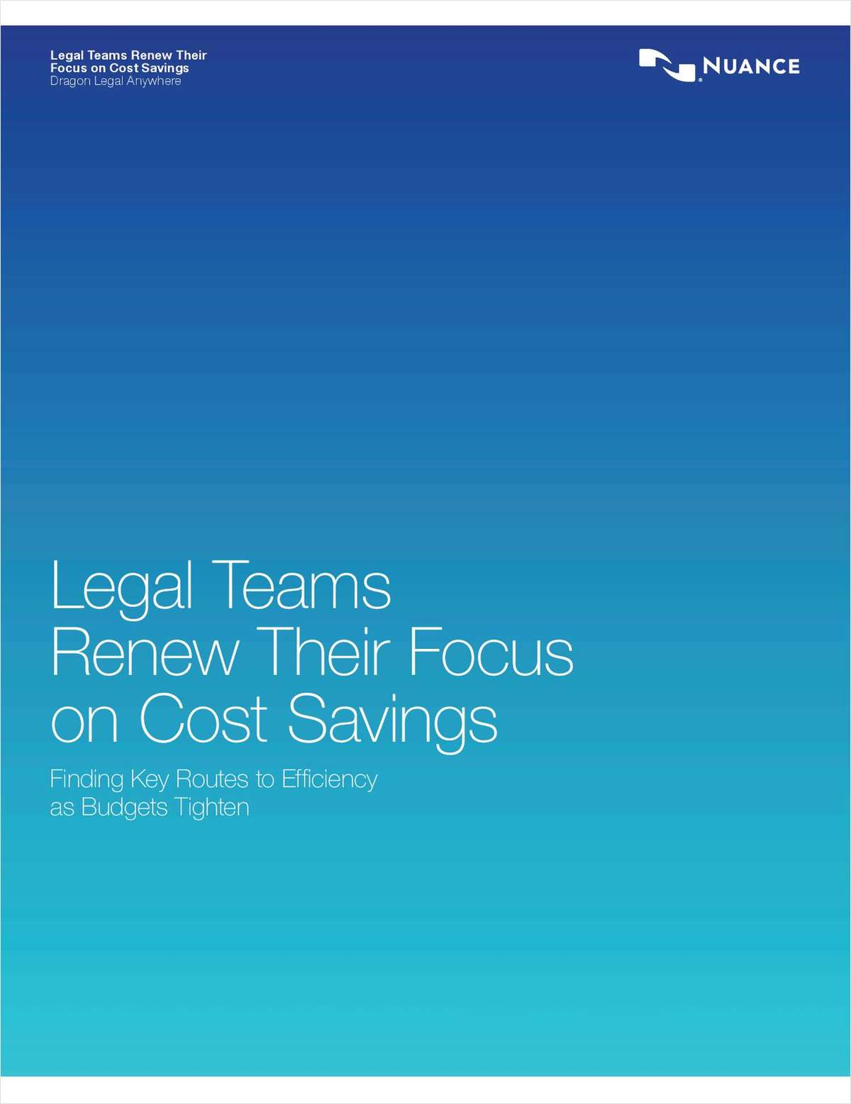 How Legal Teams Renew Their Focus on Cost Savings