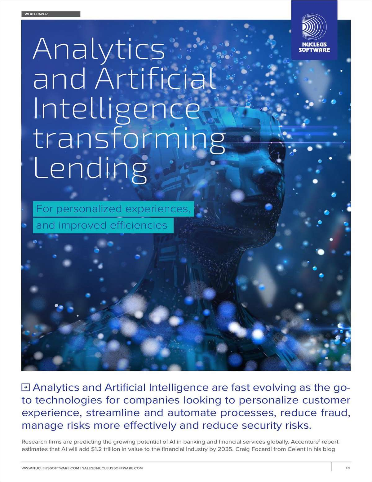 Analytics and Artificial Intelligence Transforming Lending