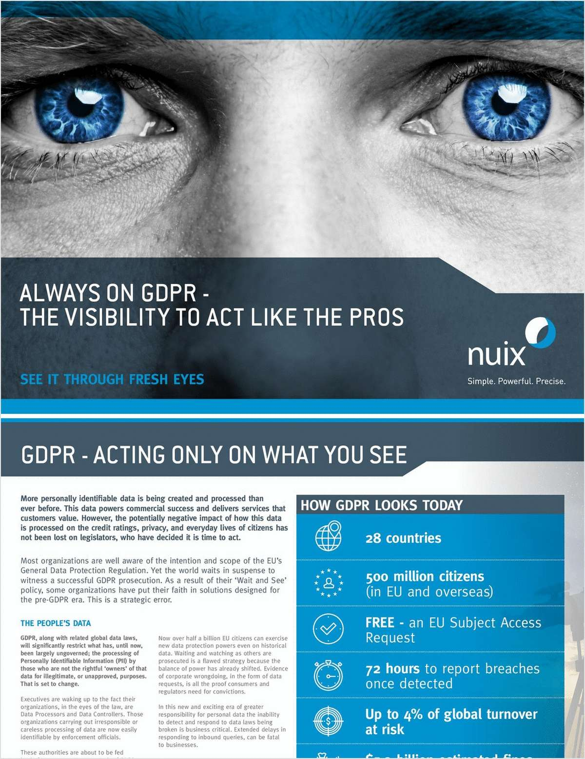 GDPR: Always On. Gain Insight on How to Act Like the Pros