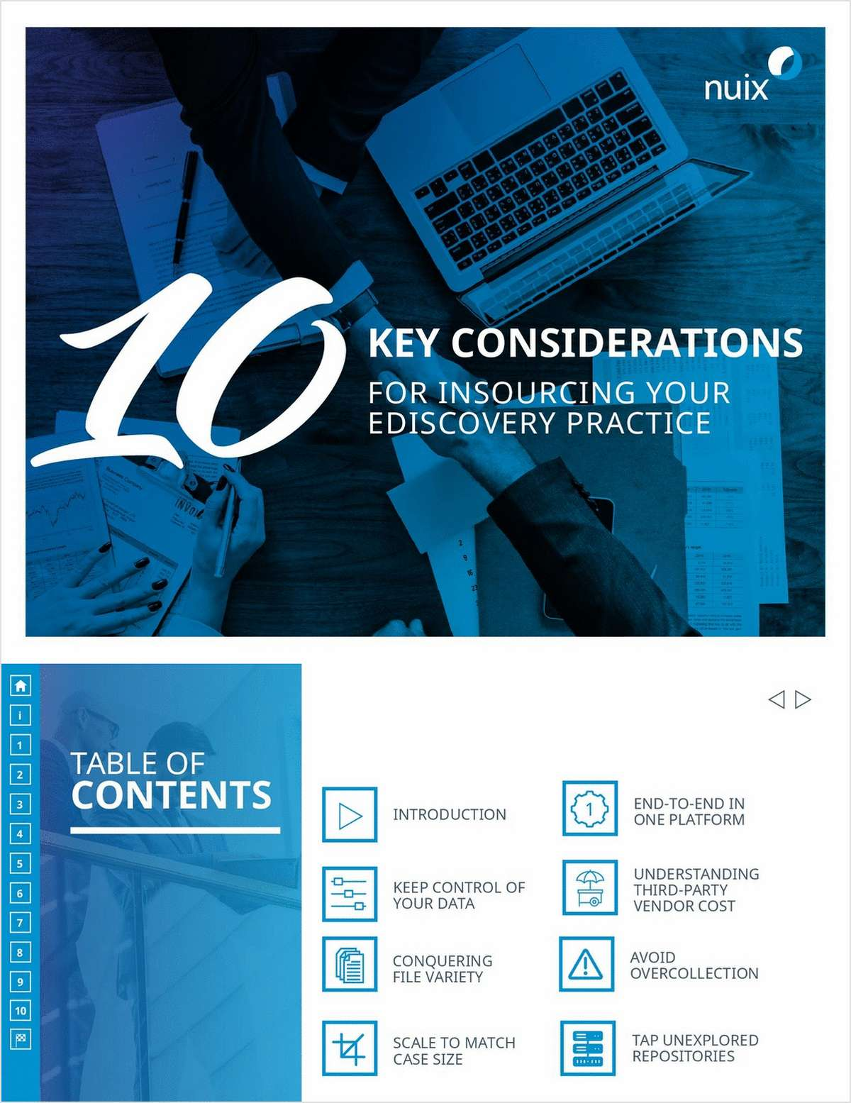 10 Key considerations for Insourcing Your Ediscovery Practice