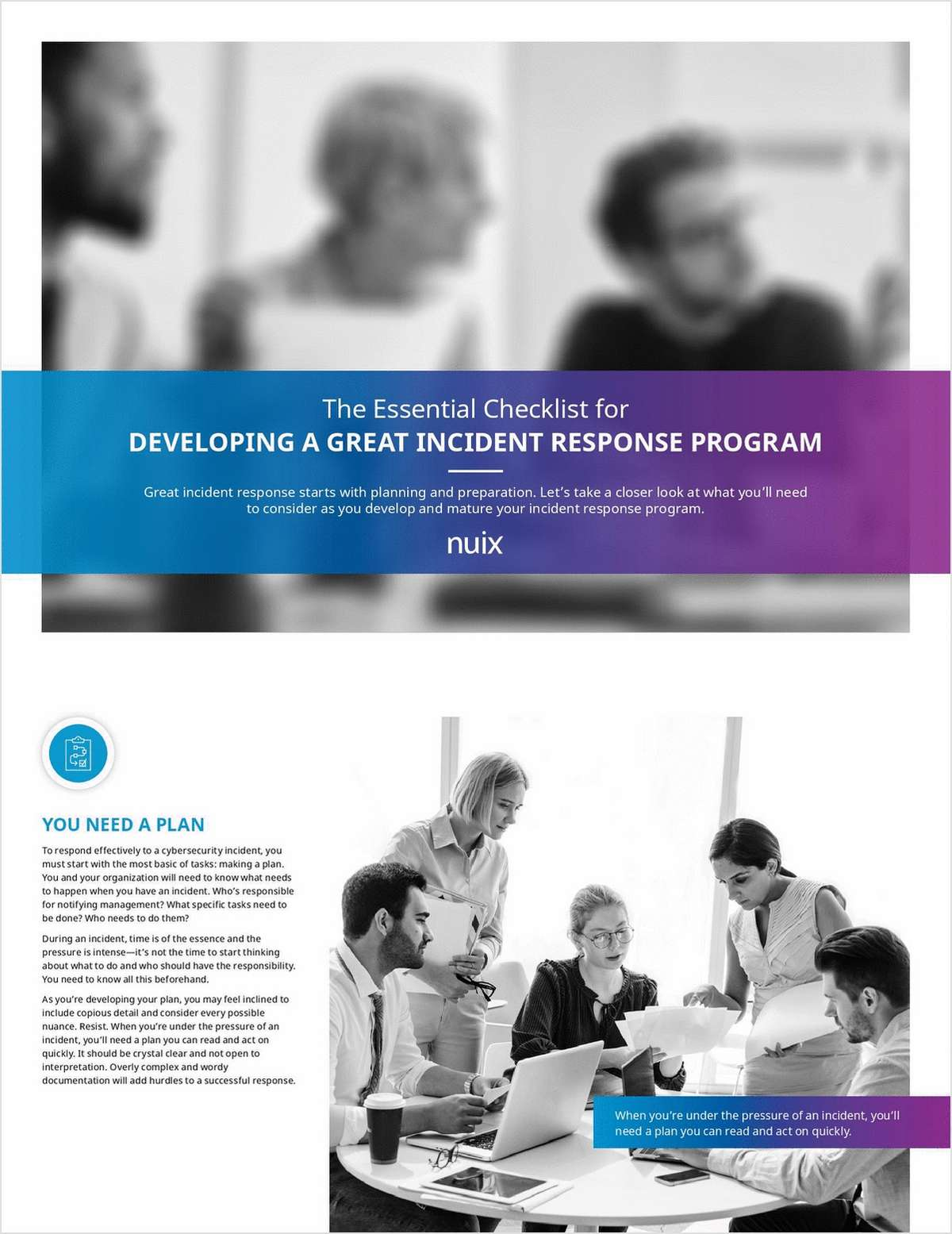 The Essential Checklist for Developing a Great Incident Response Program