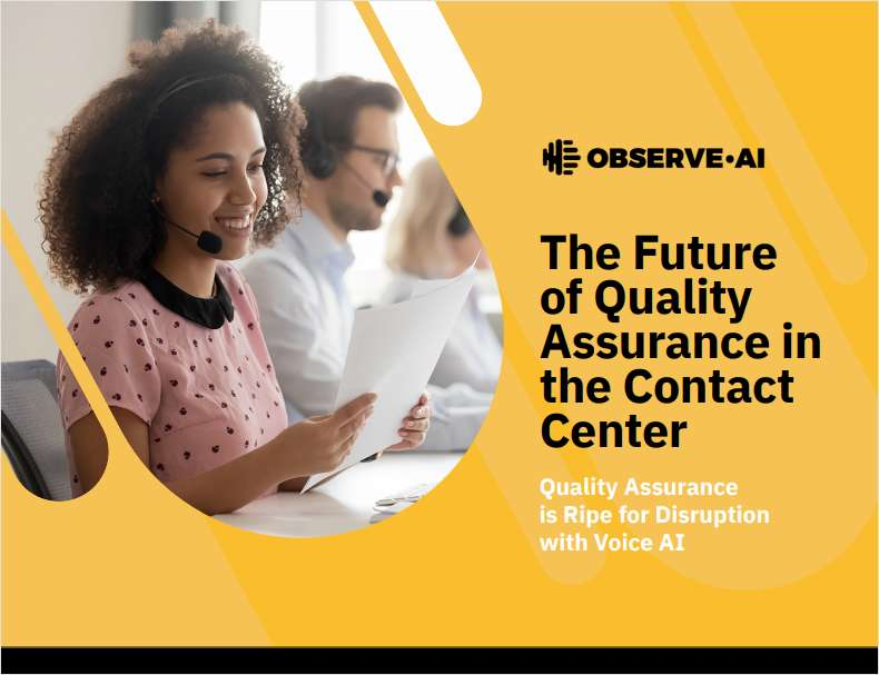 eBook: The Future of Quality Assurance in the Contact Center