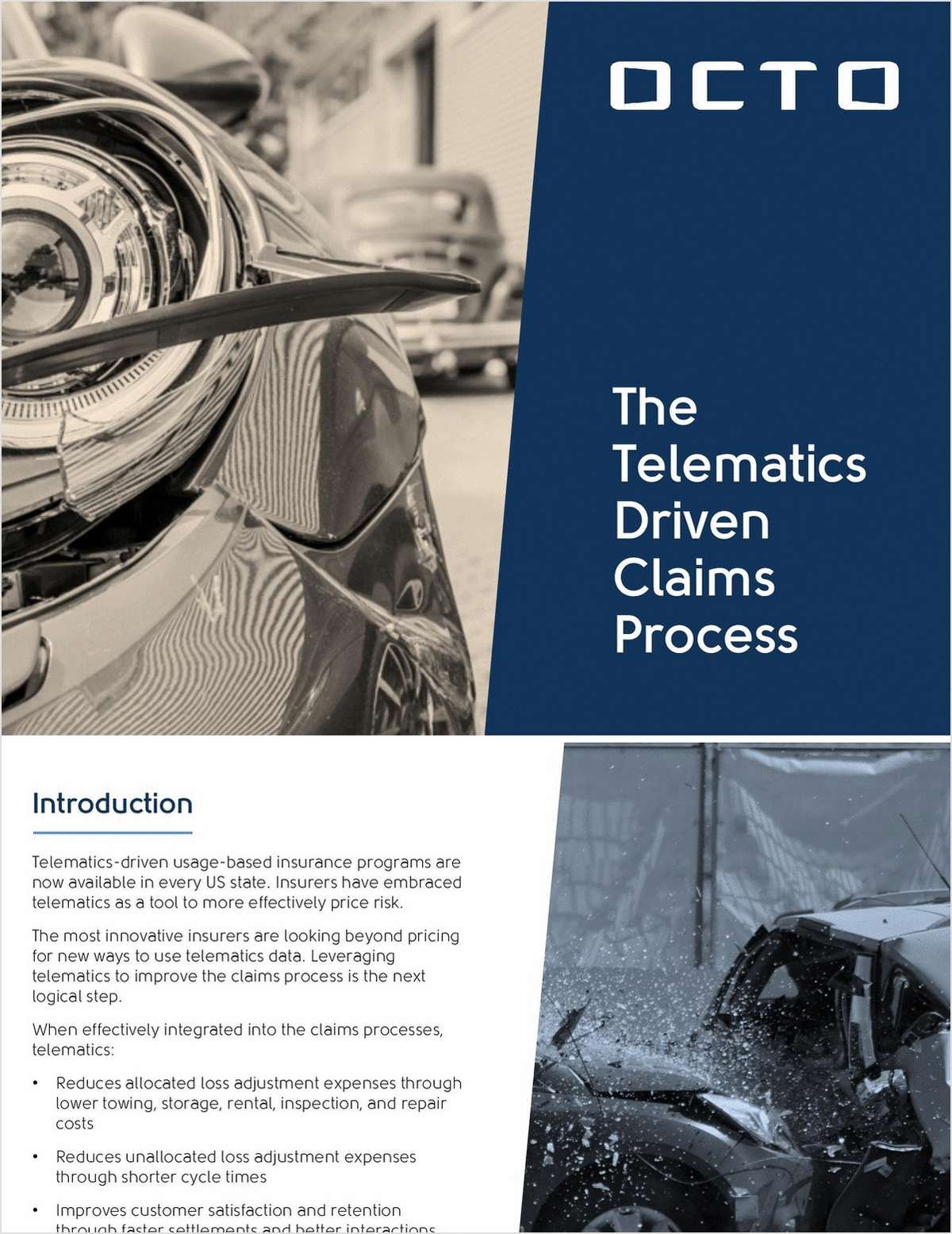Road Map for a Telematics-Driven Claims Process