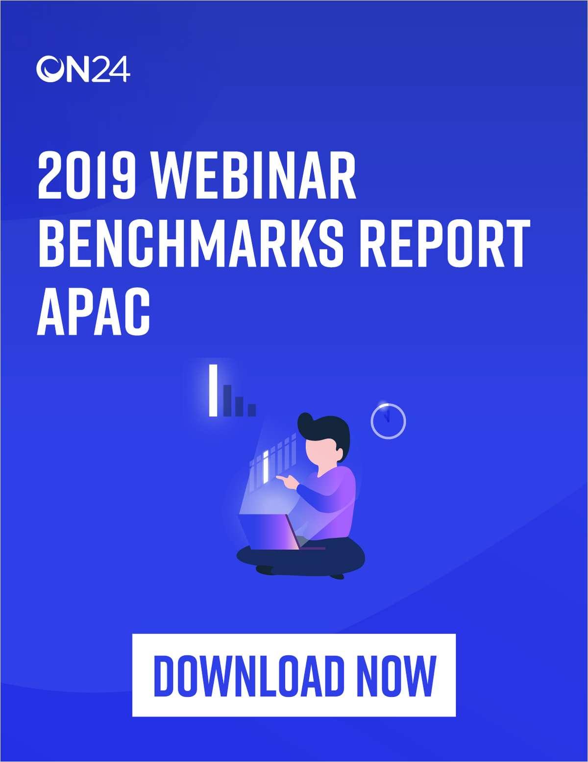 APAC Webinar Benchmarks Report 2019