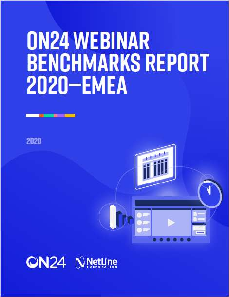 ON24 Webinar Benchmarks Report 2020 - EMEA