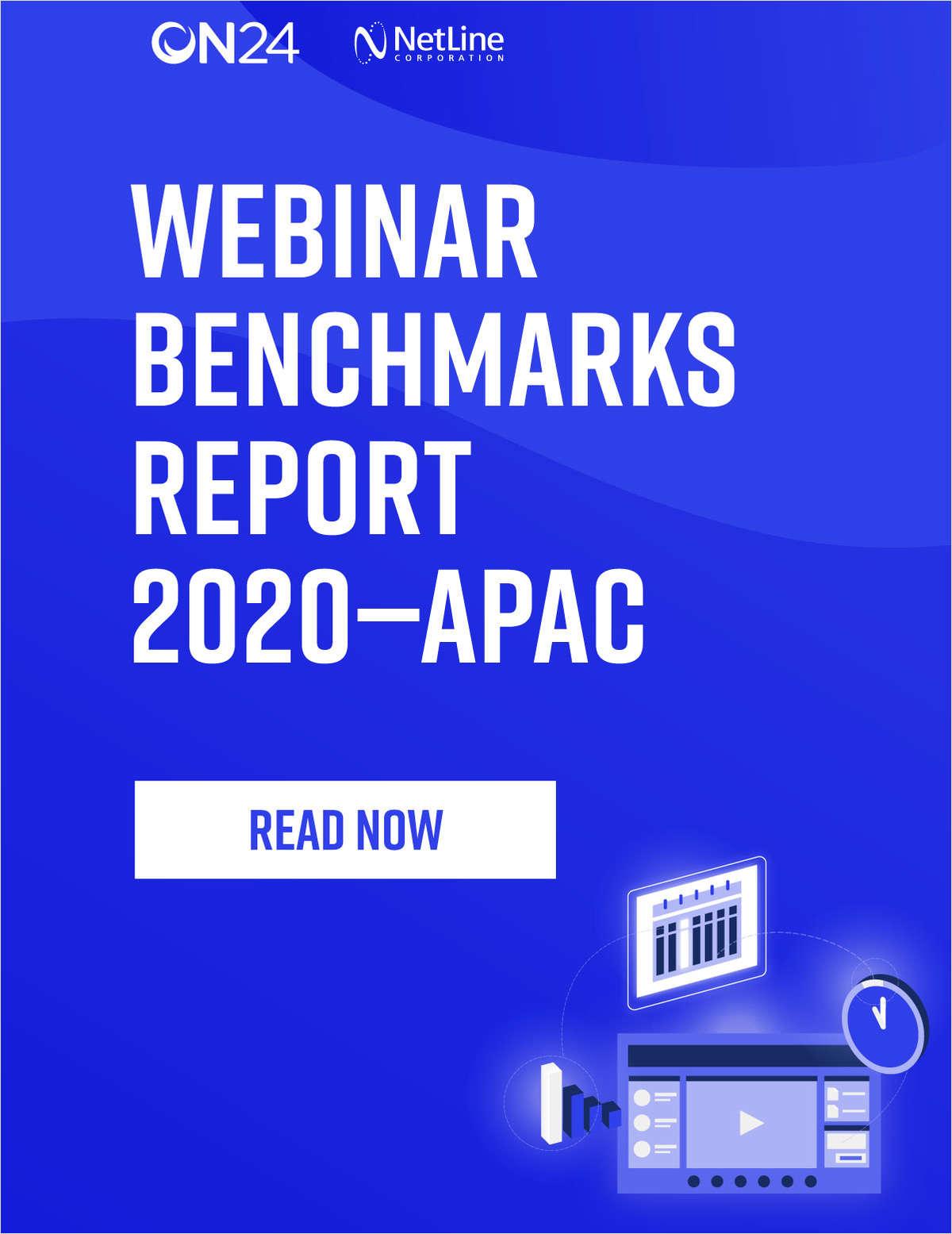 Webinar Benchmarks Report 2020 - APAC