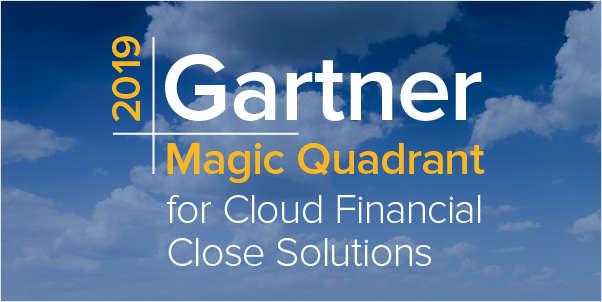 2019 Gartner Cloud Financial Close Magic Quadrant