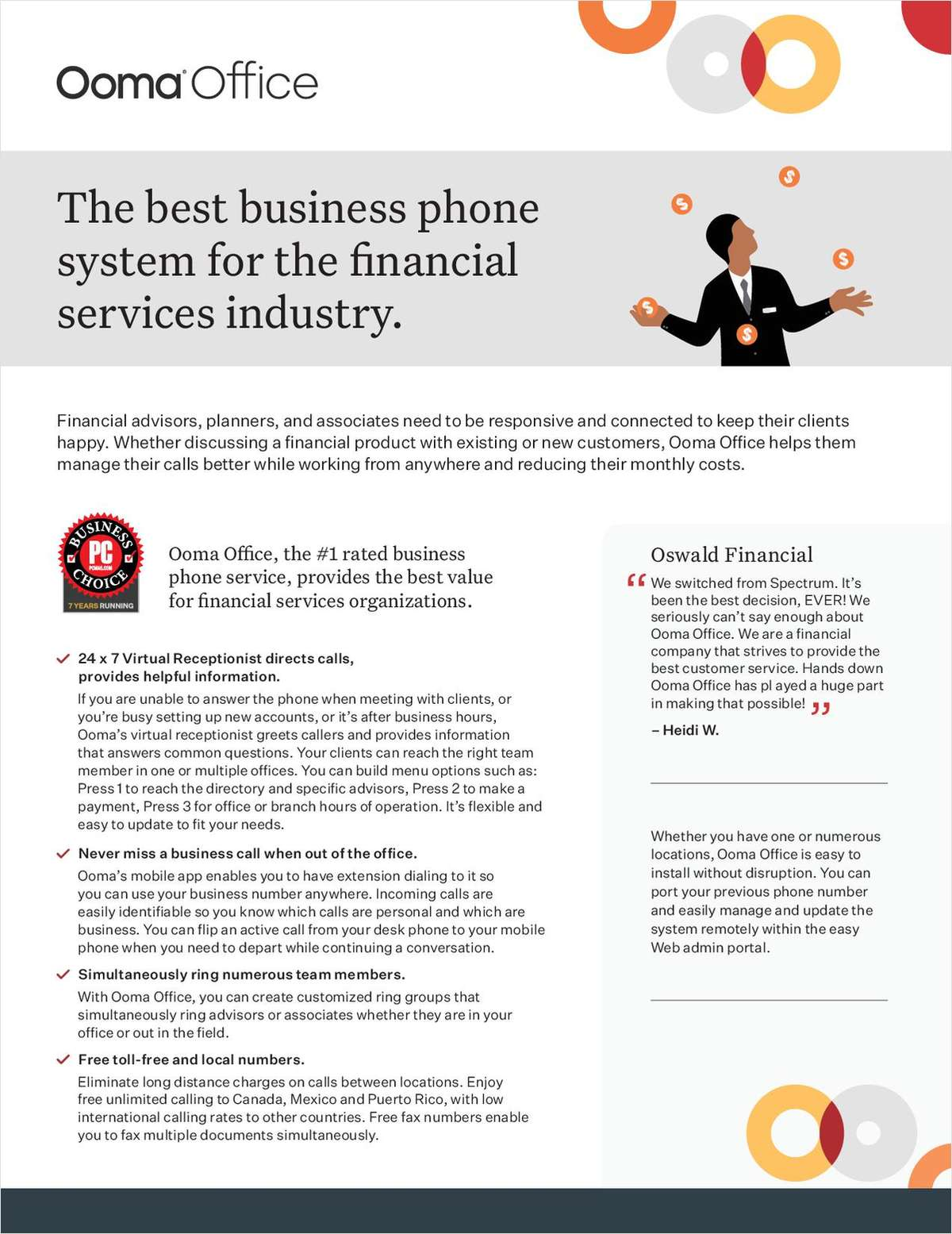 The best business phone system for the financial services industry