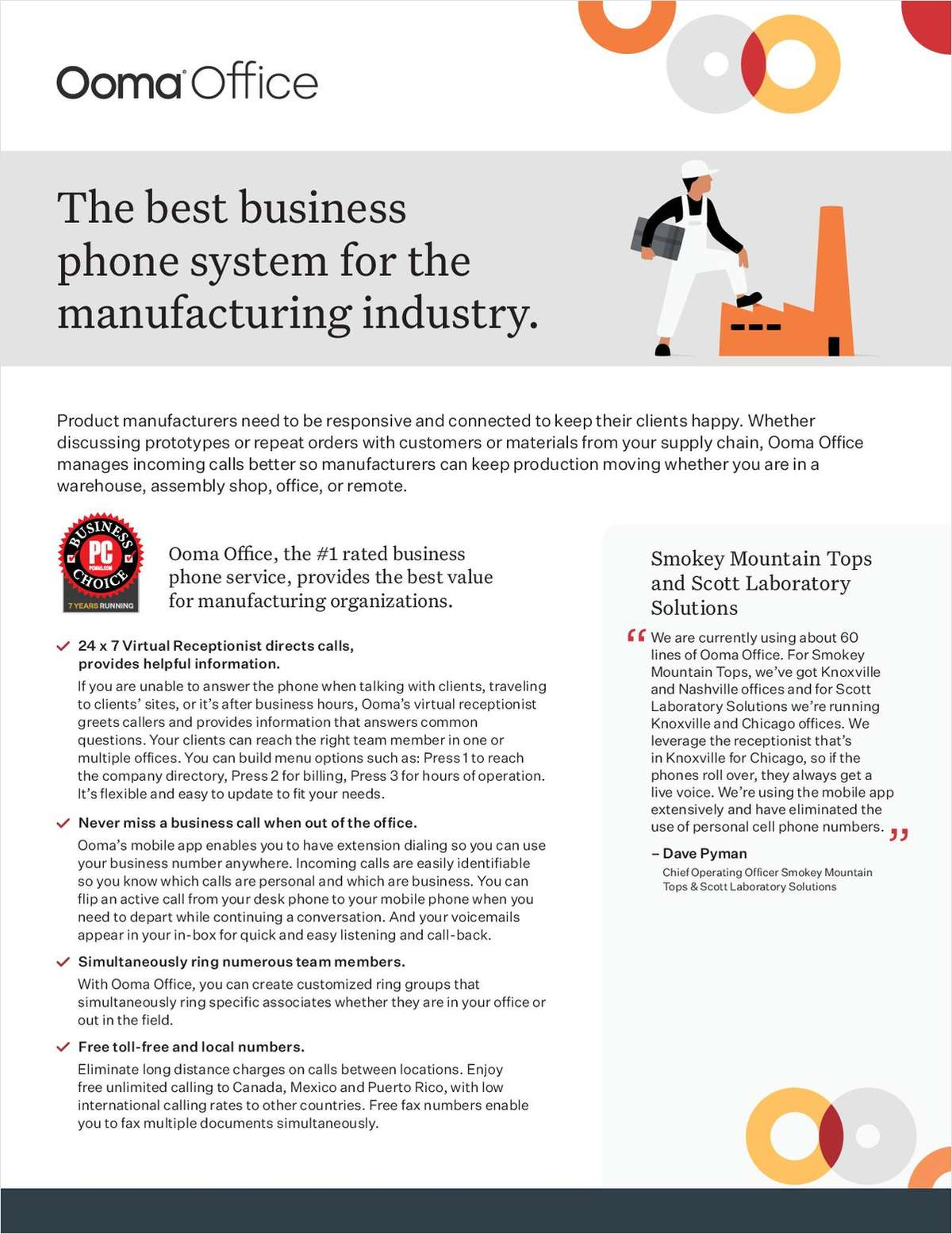 The best business phone system for the manufacturing industry