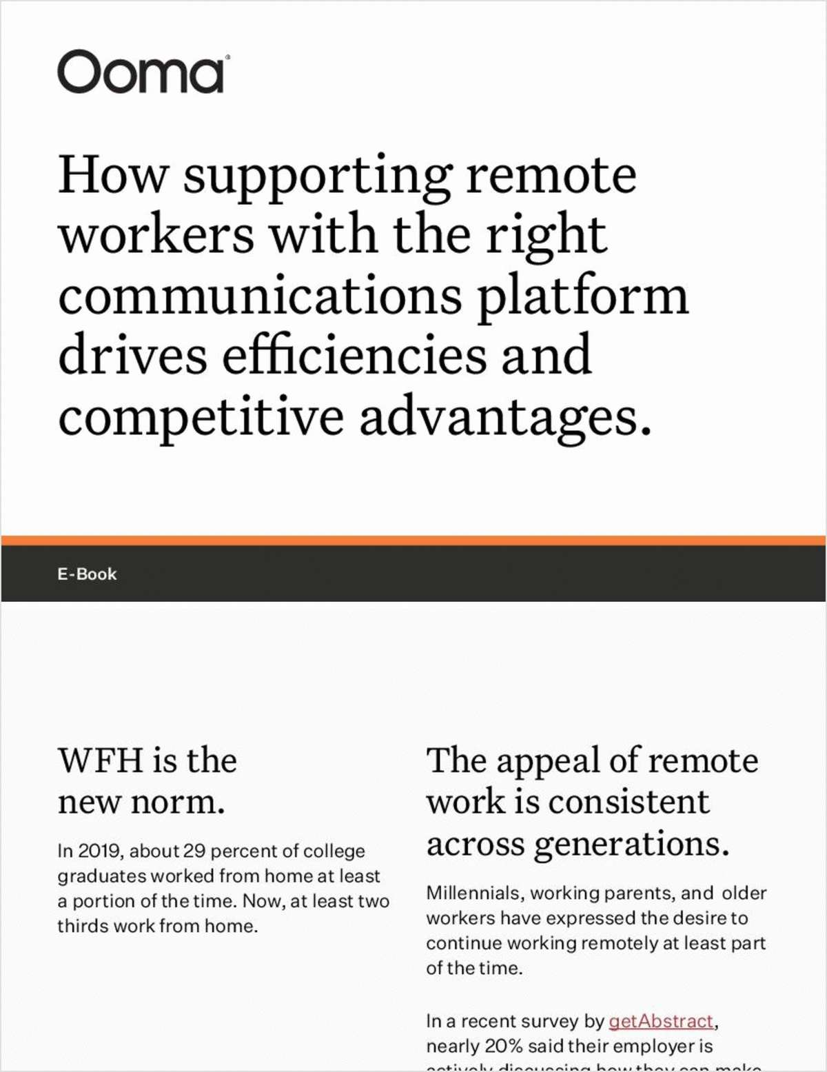 How supporting remote workers with the right communications platform drives efficiencies and competitive advantages