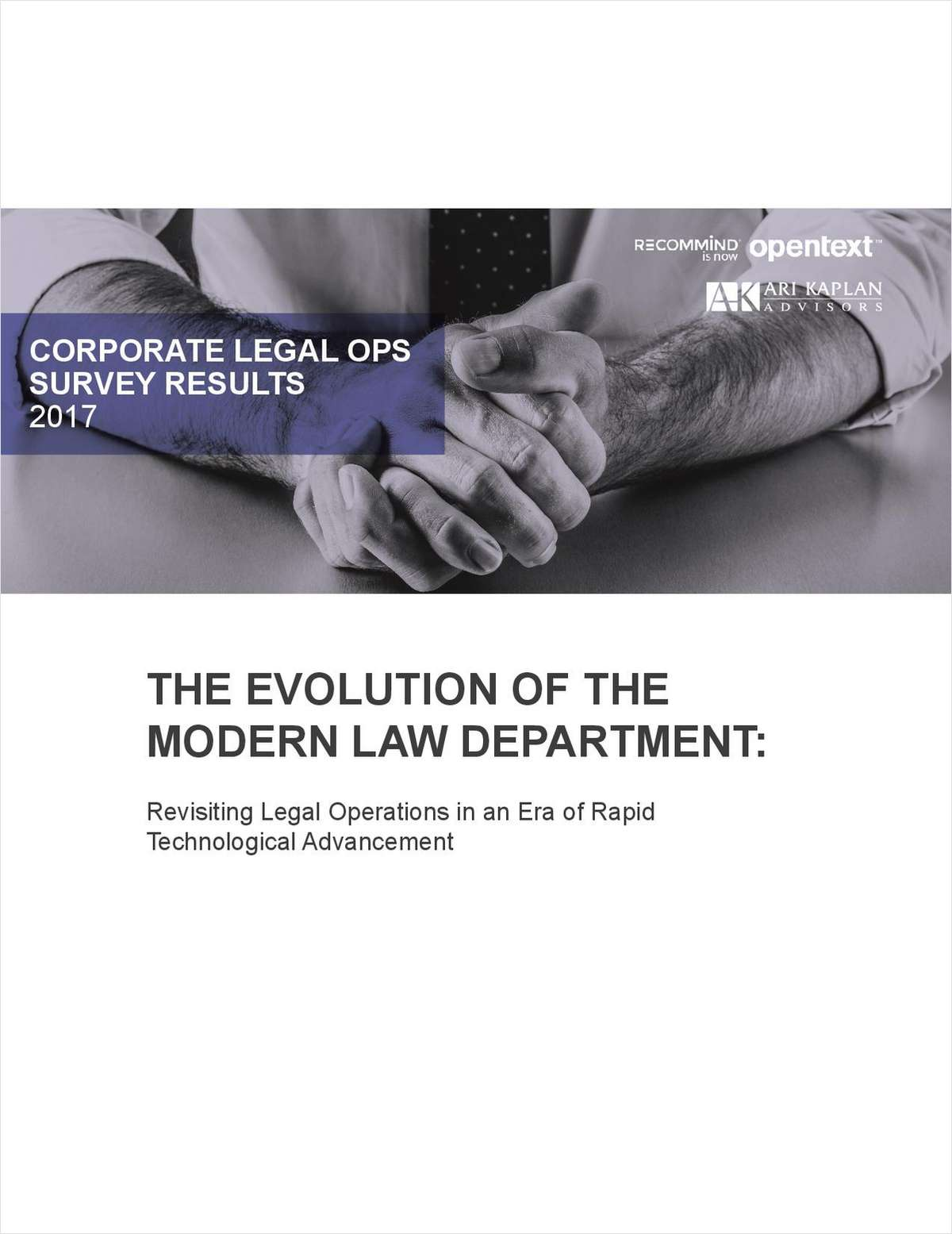 The Evolution of the Modern Law Department