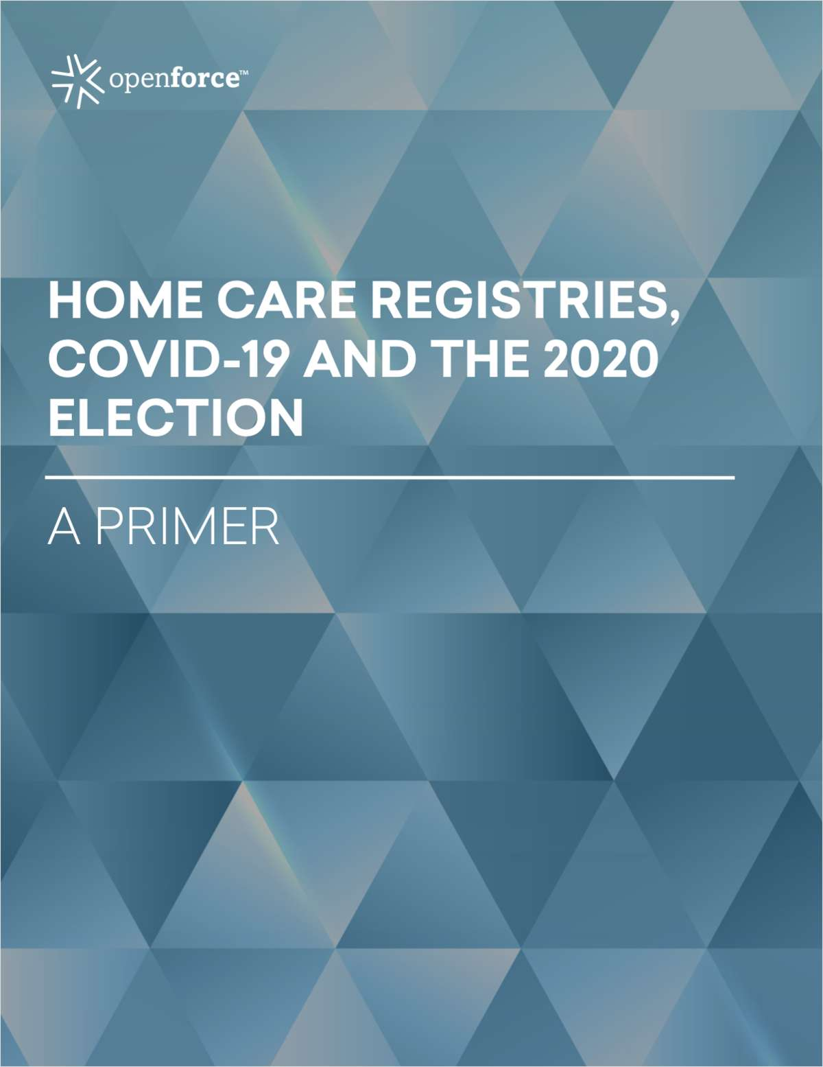 Home care registries, COVID-19 and the 2020 election: A primer