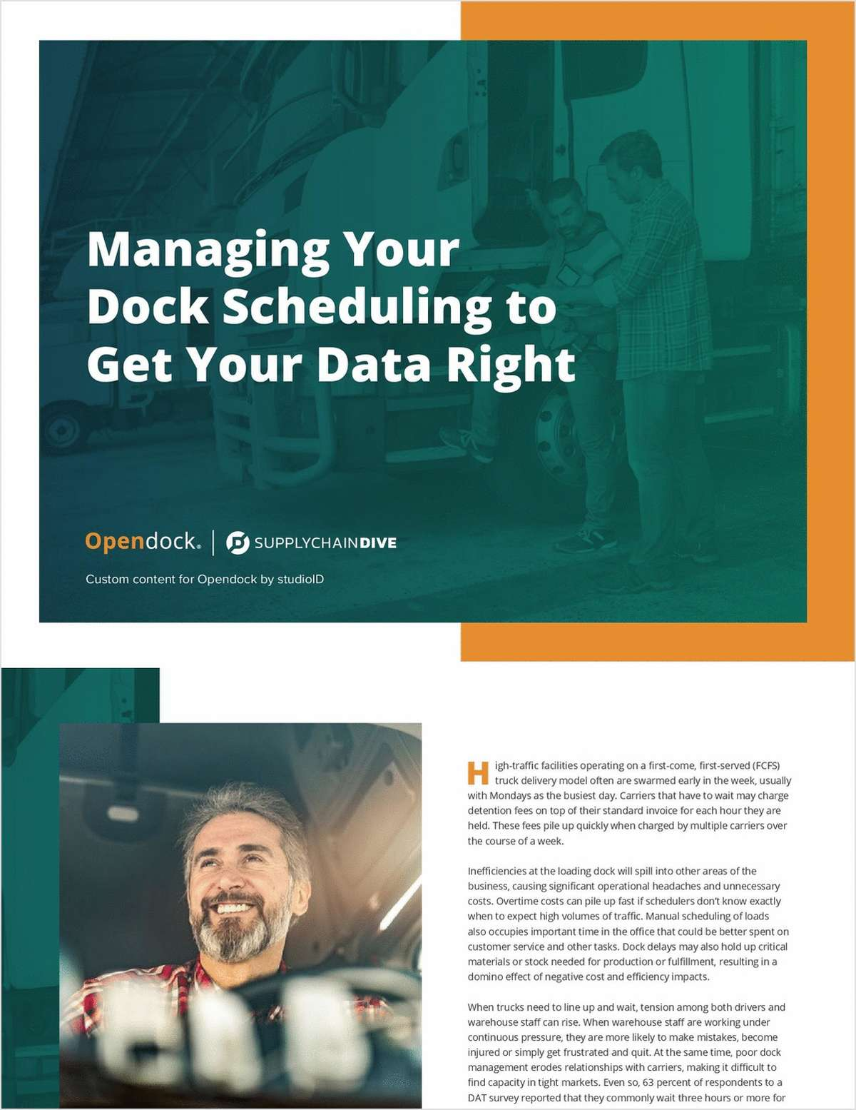 Managing Your Dock Scheduling to Get Your Data Right