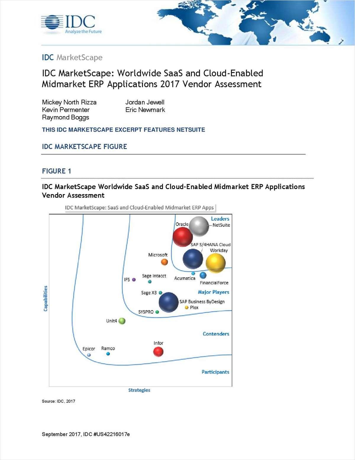 IDC MarketScape: Worldwide SaaS and Cloud-Enabled Midmarket ERP Applications 2017 Vendor Assessment