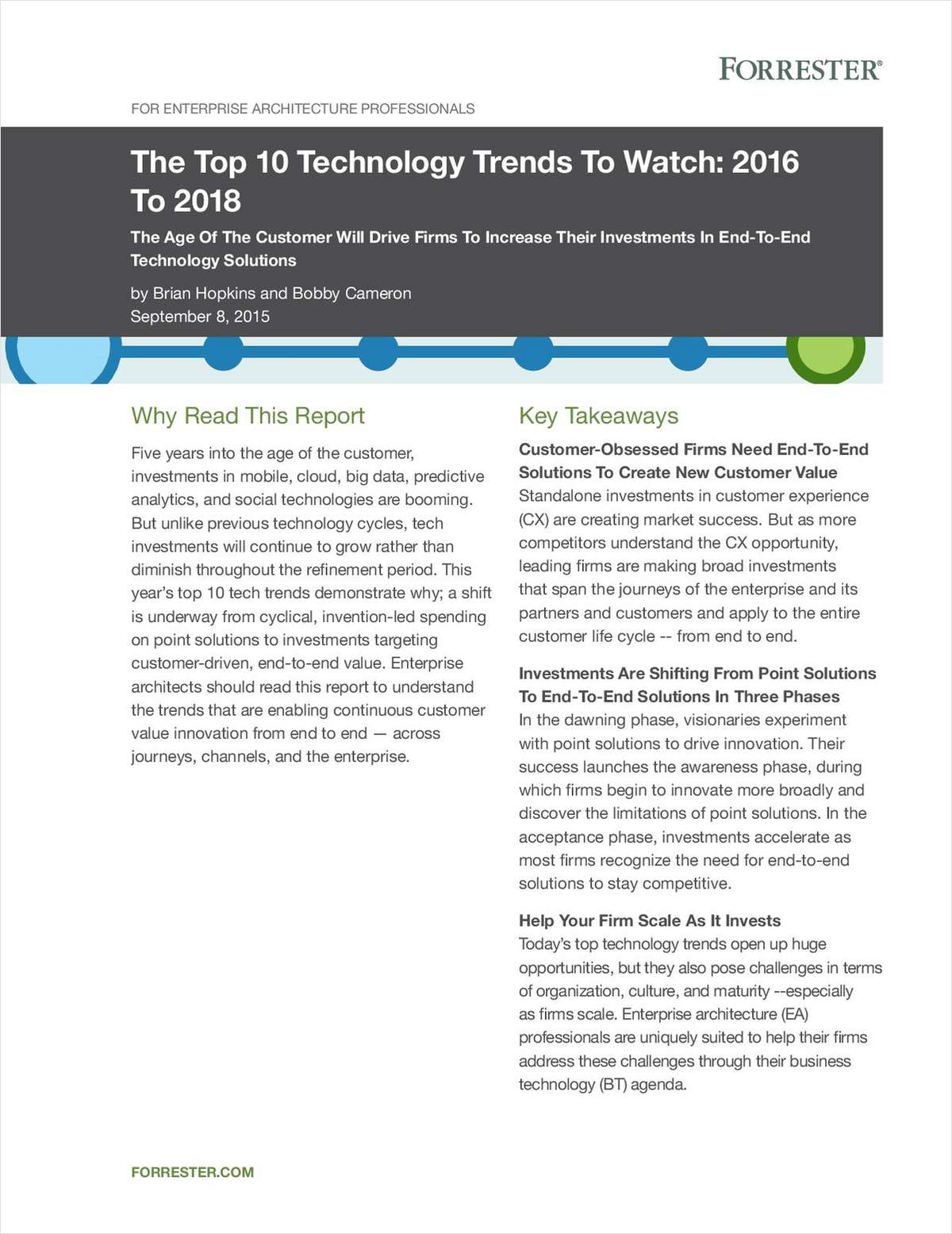 Forrester Top 10 Technology Trends to Watch 2016-2018