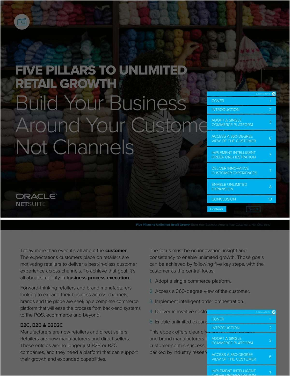Five Pillars to Unlimited Retail Growth, Free Oracle Corporation eBook