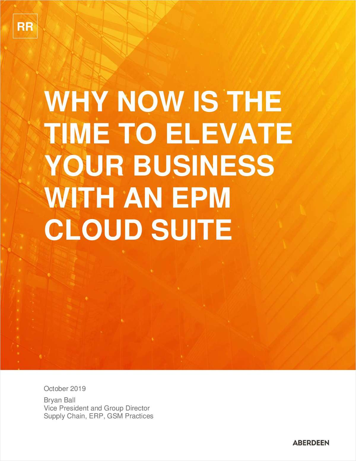 Research Shows Now is the Time for Enterprise Performance Management